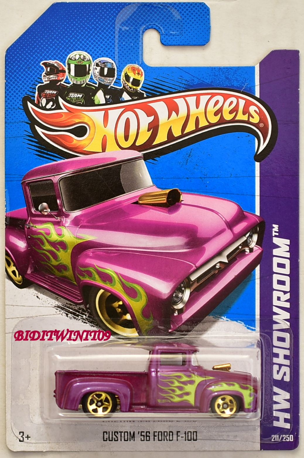 HOT WHEELS 2013 HEAT FLEET - HW SHOWROOM CUSTOM '56 FORD F-100 PURPLE