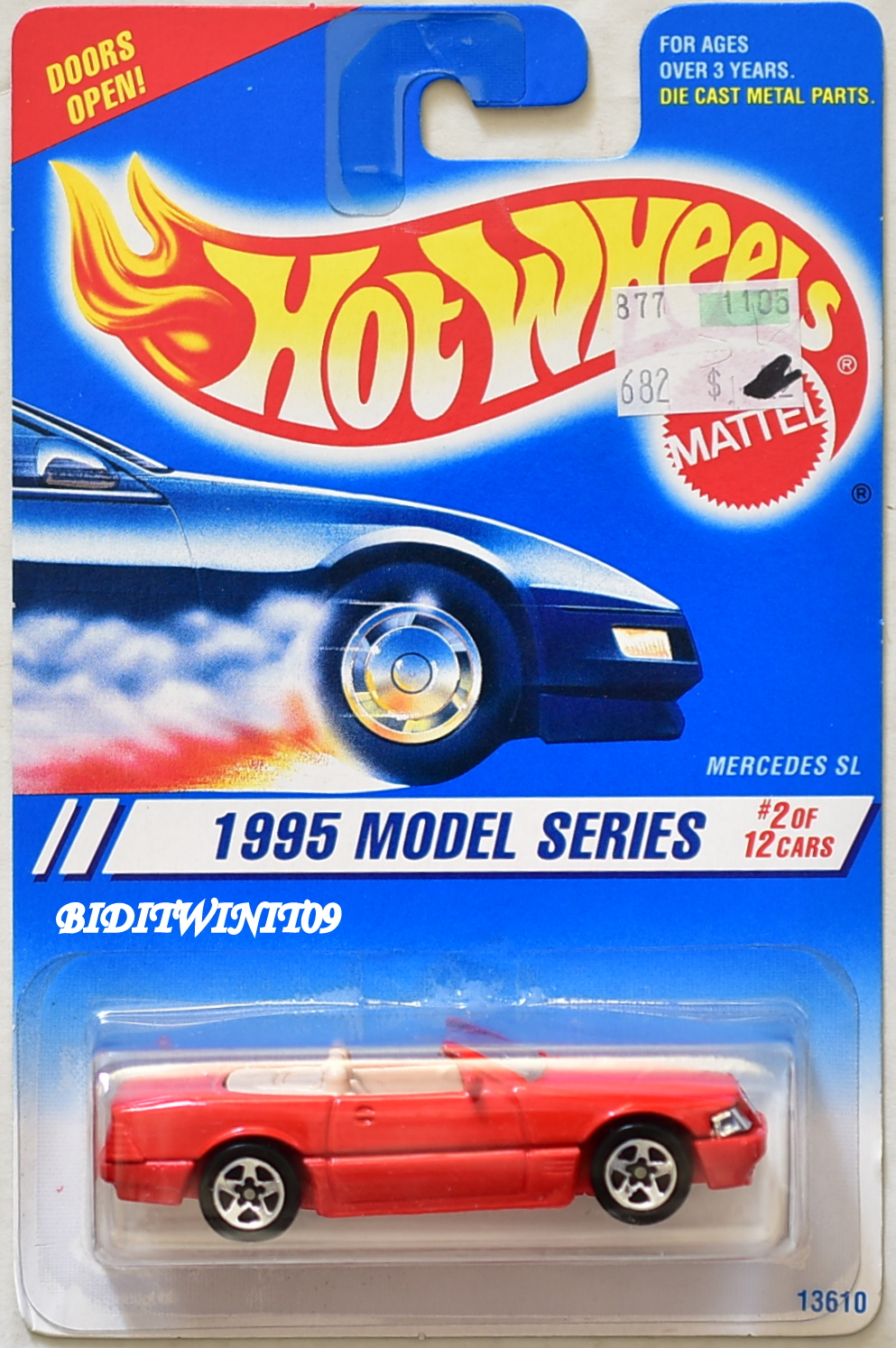 HOT WHEELS 1995 MODEL SERIES MERCEDES SL #2/12 RED