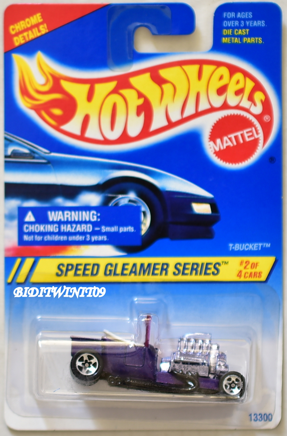 HOT WHEELS 1994 SPEED GREAMER SERIES T-BUCKET #2/4 PURPLE