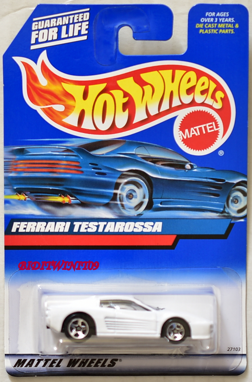 HOT WHEELS 2000 FERRARI TESTAROSSA WHITE