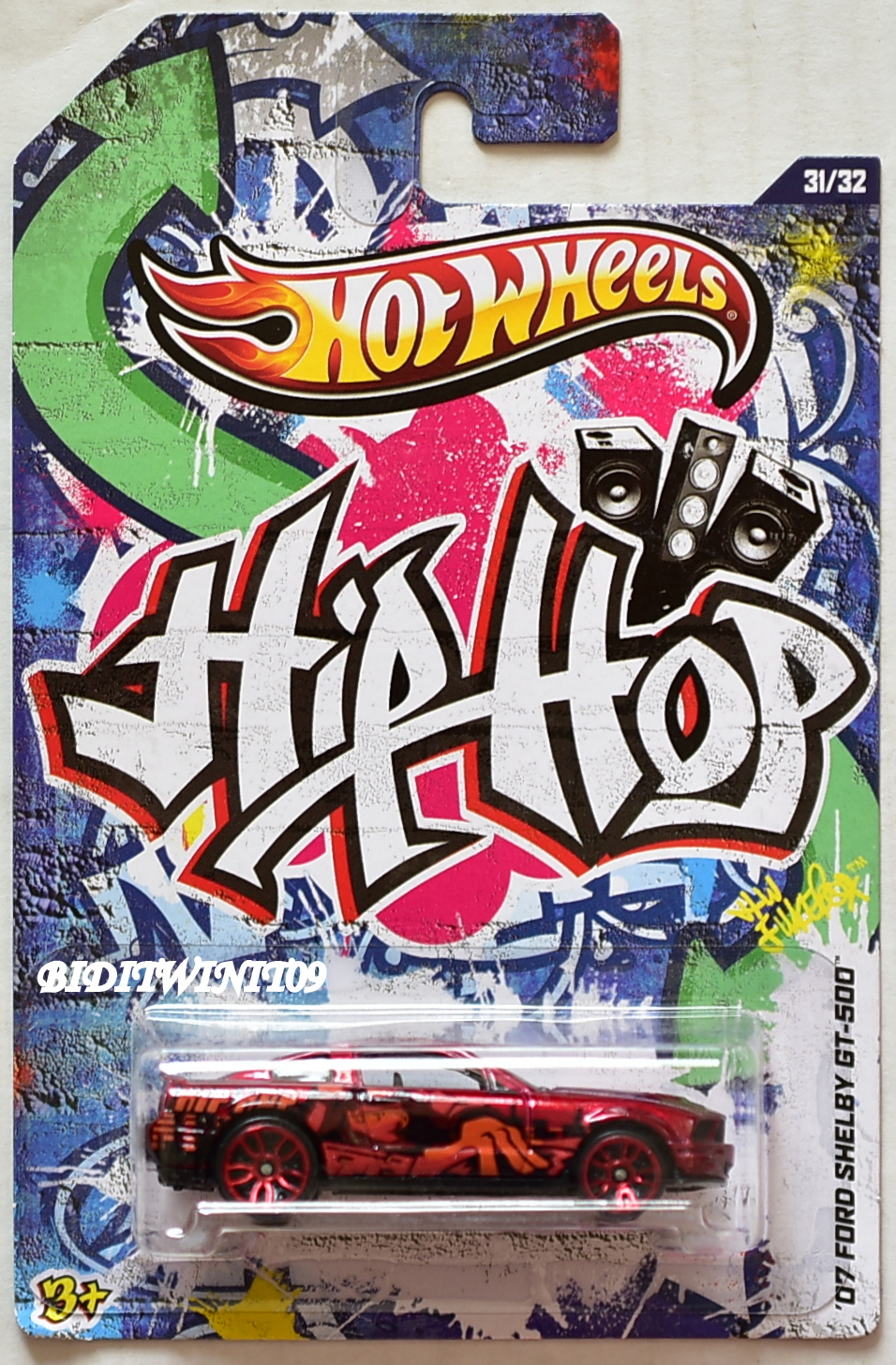 HOT WHEELS 2012 JUKEBOX HIP HOP '07 FORD SHELBY GT-500 E+