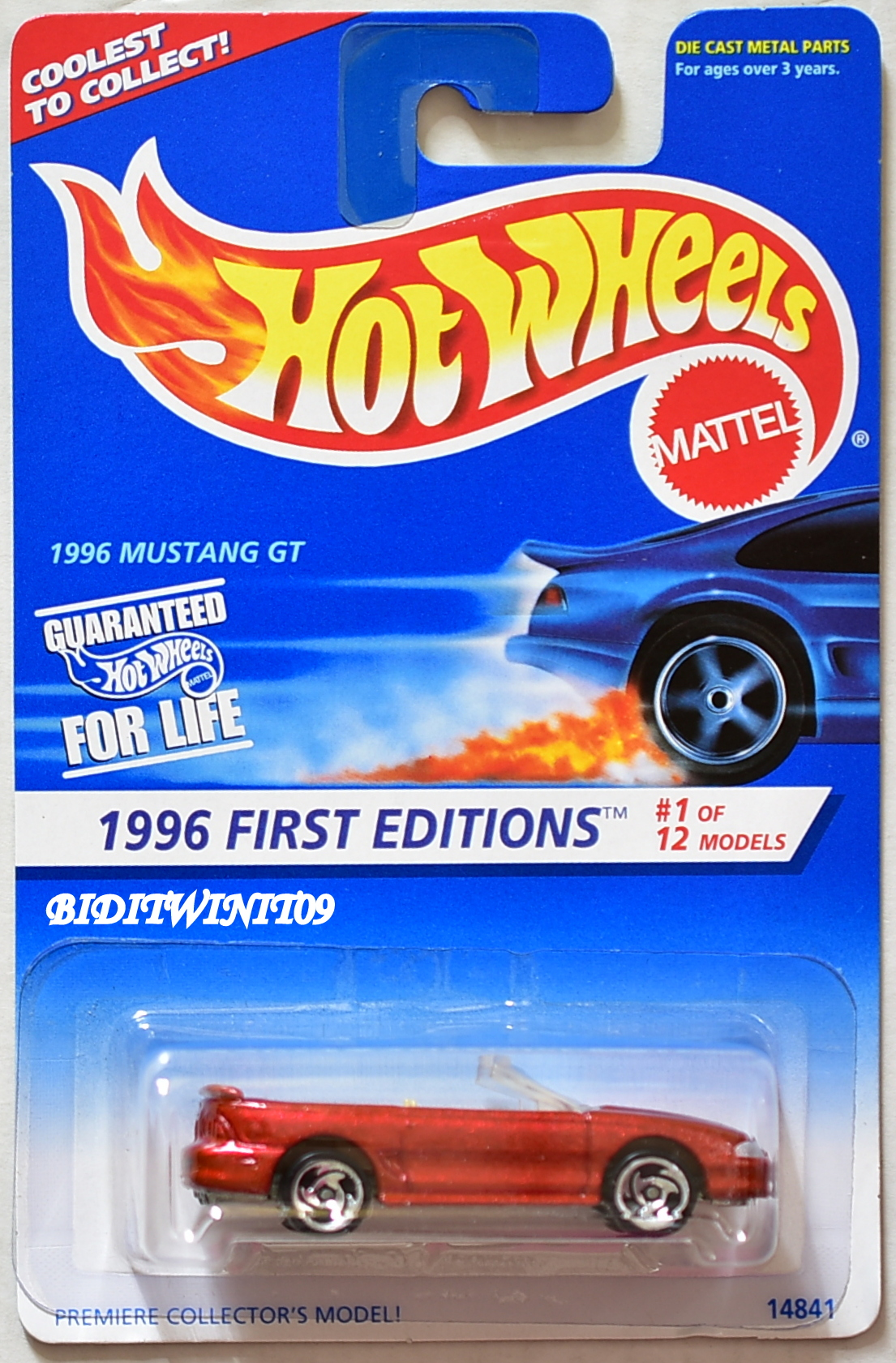 HOT WHEELS 1996 FIRST EDITIONS MUSTANG GT #1/12 E+