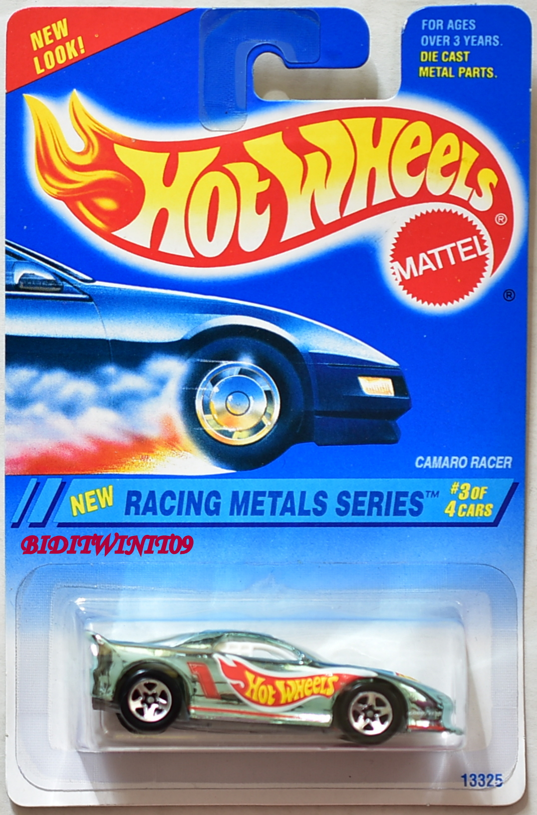 HOT WHEELS 1994 RACING METALS SERIES CAMARO RACER #3/4