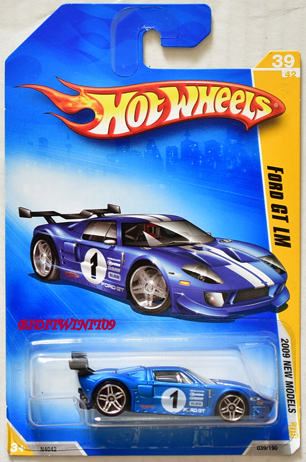 HOT WHEELS 2009 NEW MODELS FORD GT LM BLUE E+