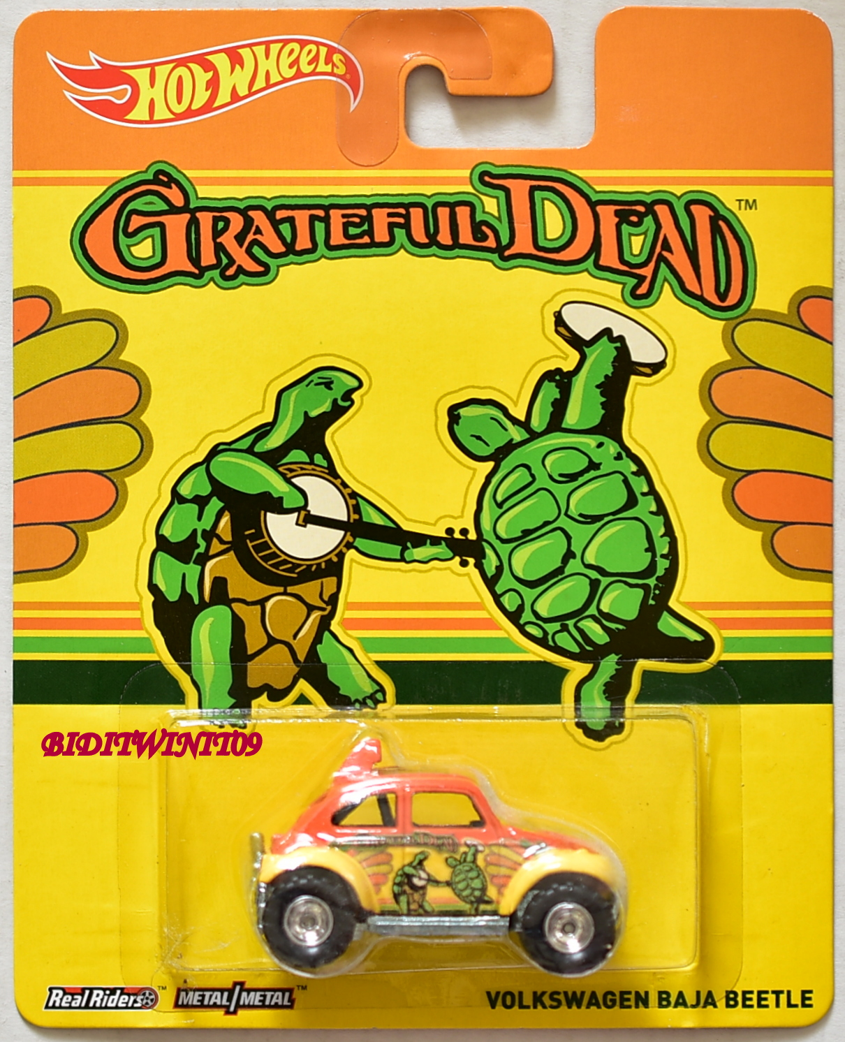HOT WHEELS POP CULTURE 2014 GRATEFUL DEAD VOLKSWAGEN BAJA BEETLE