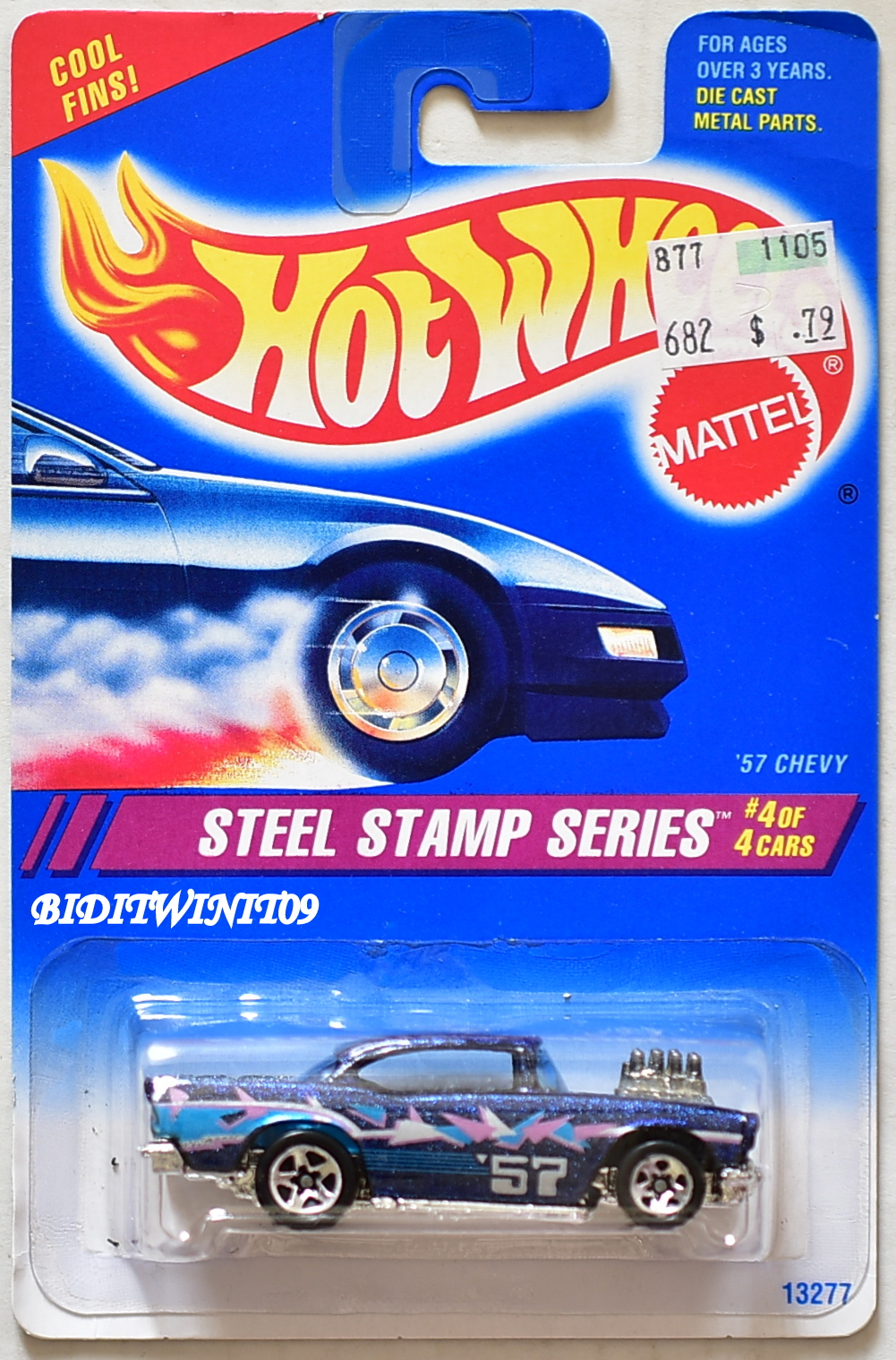 HOT WHEELS 1994 STEEL STAMP SERIES '57 CHEVY