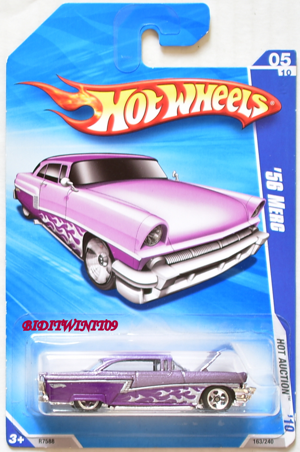 HOT WHEELS 2010 HOT AUCTION '56 MERC #05/10 PURPLE