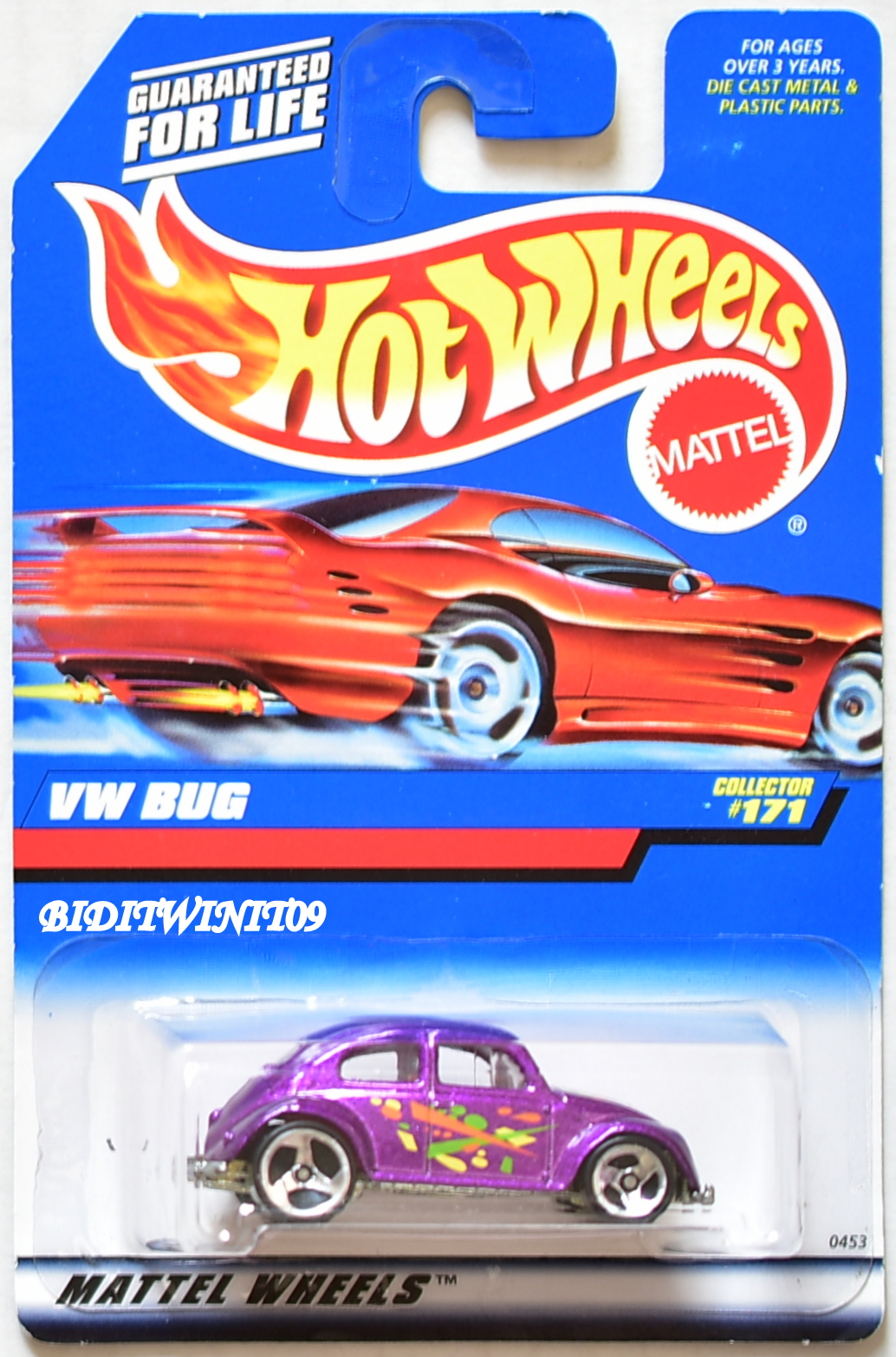 HOT WHEELS 1998 VW BUG COLLECTOR #171 PURPLE