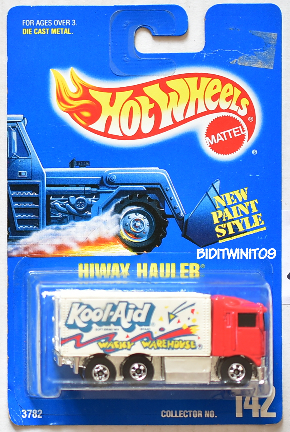 HOT WHEELS 1991 BLUE CARD HIWAY HAULER #238 PURPLE KOOL-AID 21