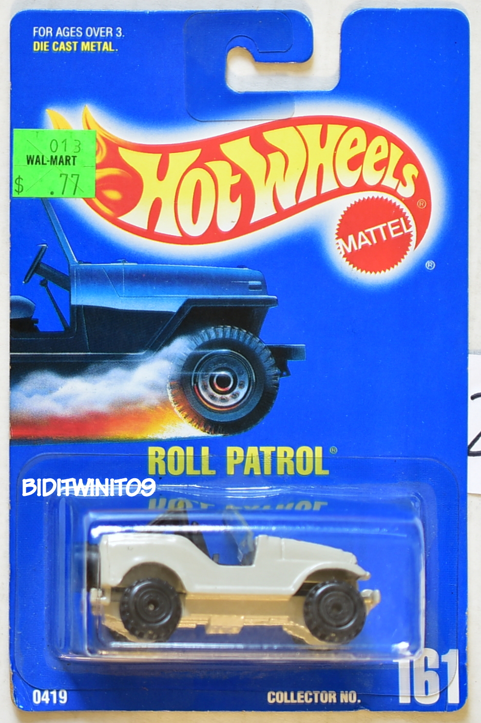 HOT WHEELS 1991 BLUE CARD ROLL PATROL #161 STAR TAMPO W/ CONSTRUCTION WHEELS 22