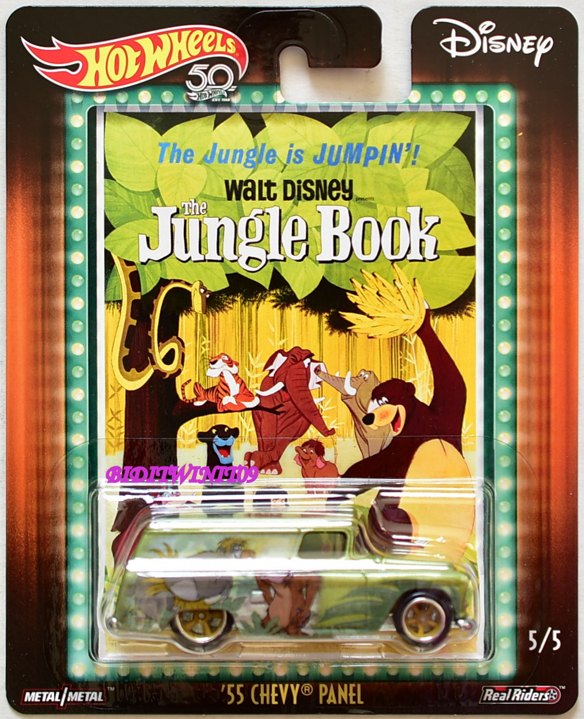 HOT WHEELS 2018 POP CULTURE DISNEY '55 CHEVY PANEL THE JUNGLE BOOK
