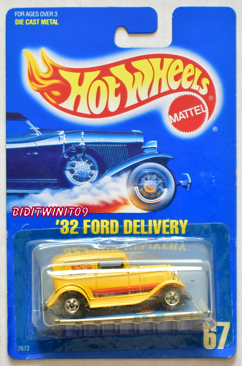 HOT WHEELS 1989 BLUE CARD '32 FORD DELIVERY