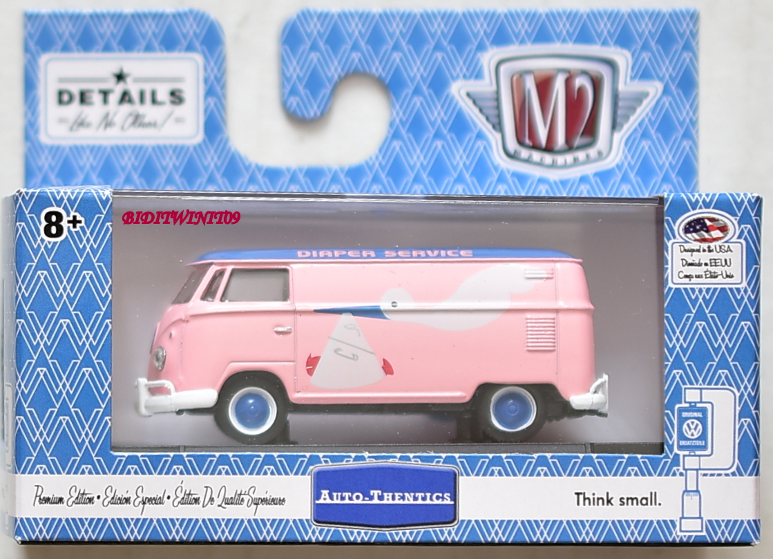 M2 MACHINES 2018 WALMART EXCLUSIVE 1960 VW DELIVERY VAN USA MODEL WMTS11 PINK