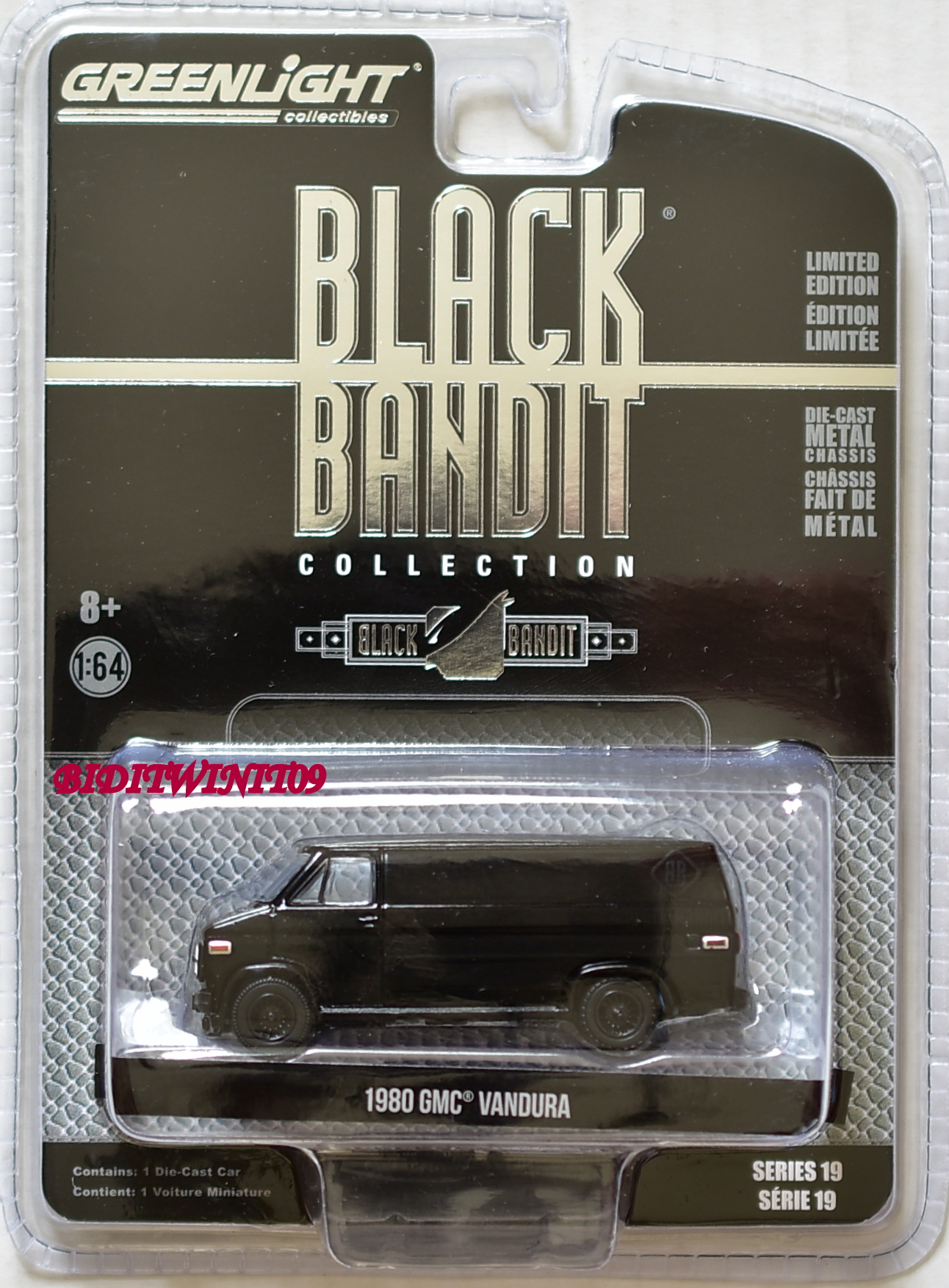 GREENLIGHT 2018 BLACK BANDIT SERIES 19 1980 GMC VANDURA