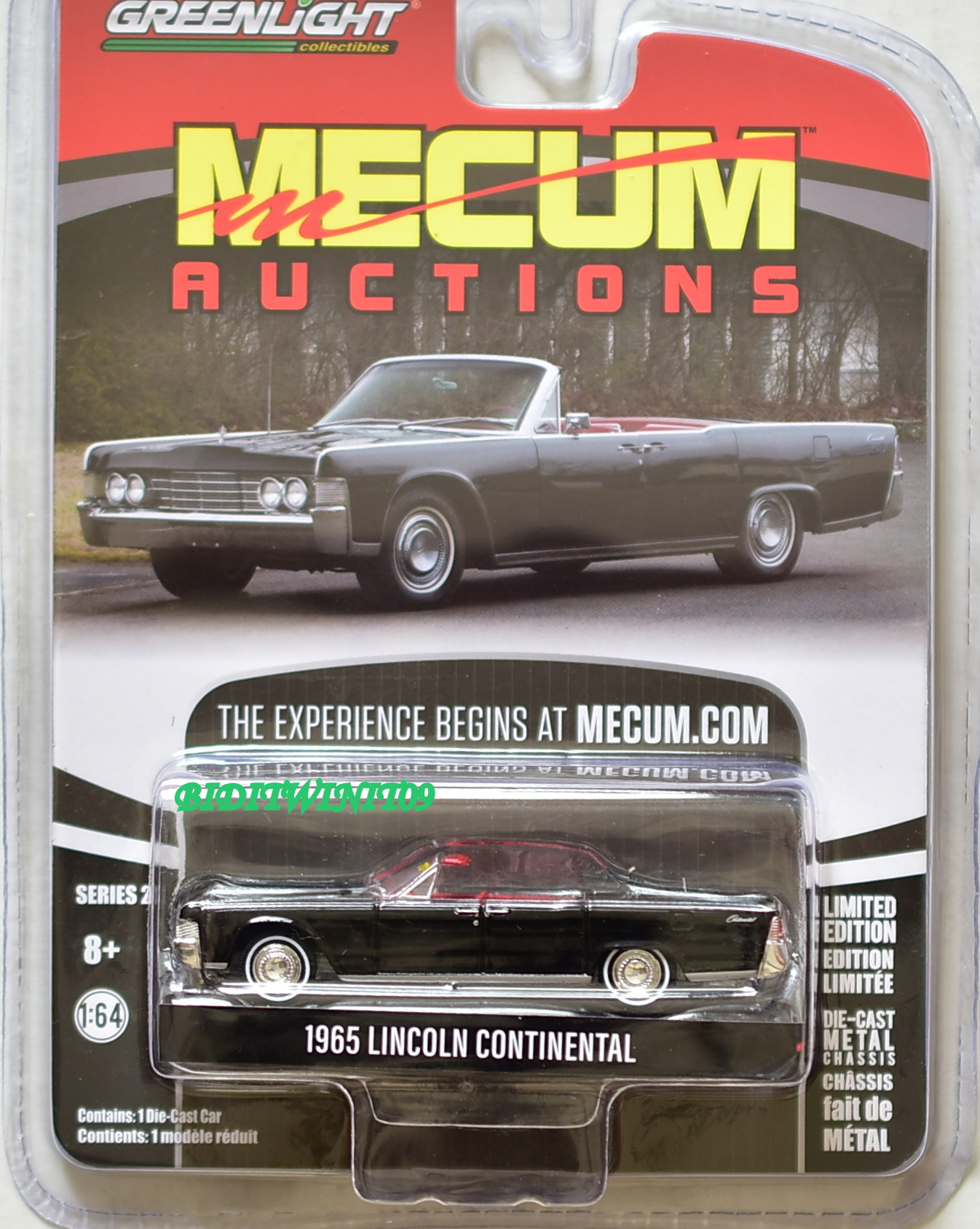 Greenlight 2018 Mecum in Auctions Serie 2 1965 Lincoln Continental schwarz