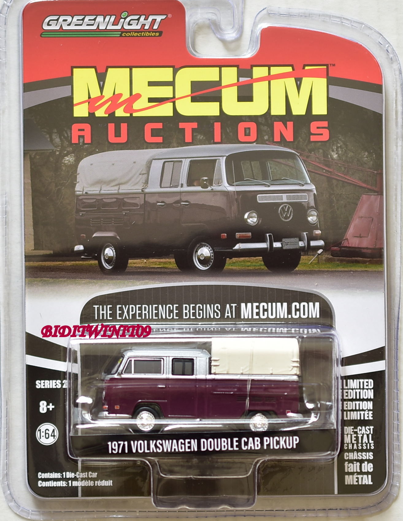 GREENLIGHT MECUM AUCTIONS SERIES 2 1971 VOLKSWAGEN DOUBLE CAB PICKUP