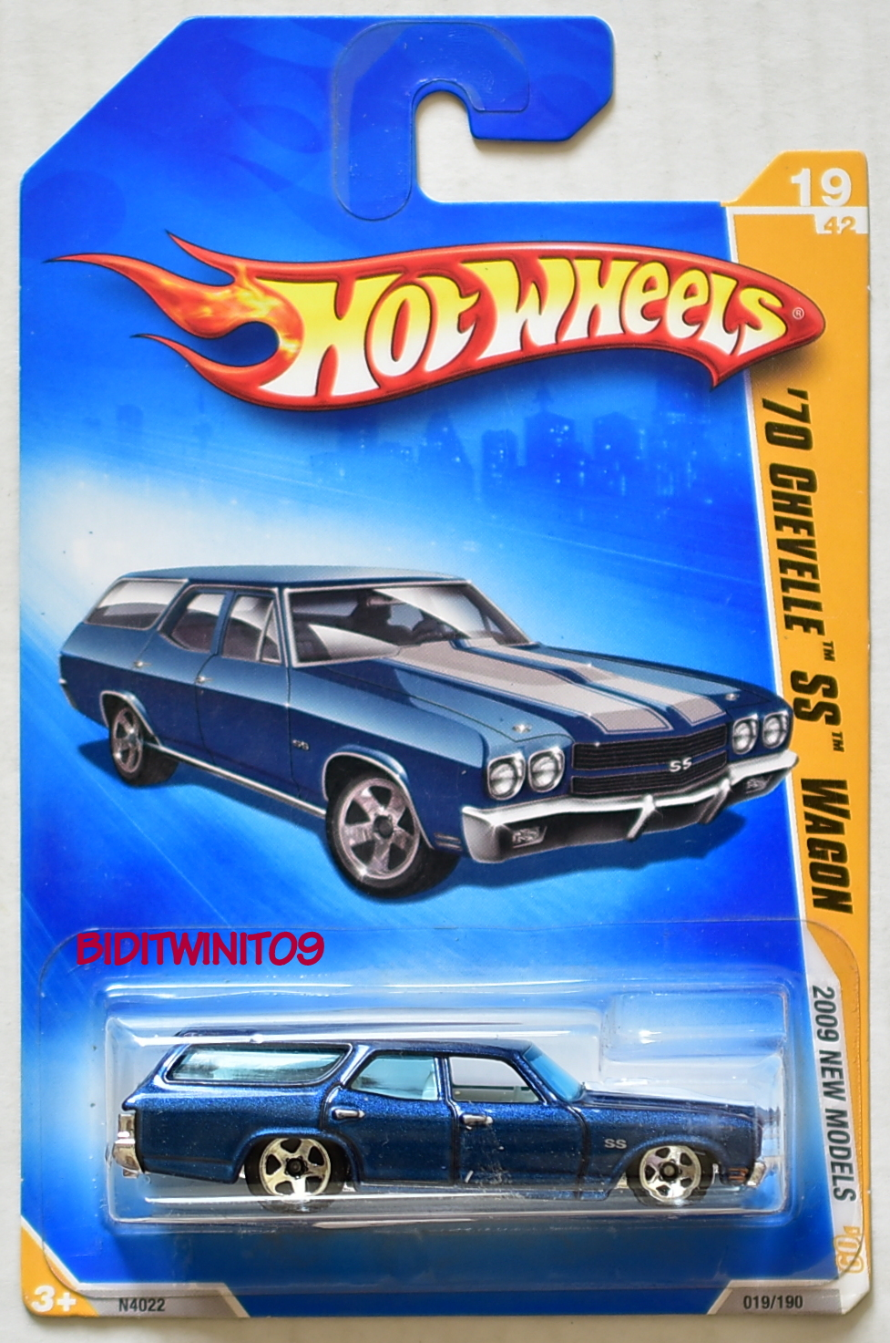HOT WHEELS 2009 NEW MODELS '70 CHEVELLE SS WAGON BLUE