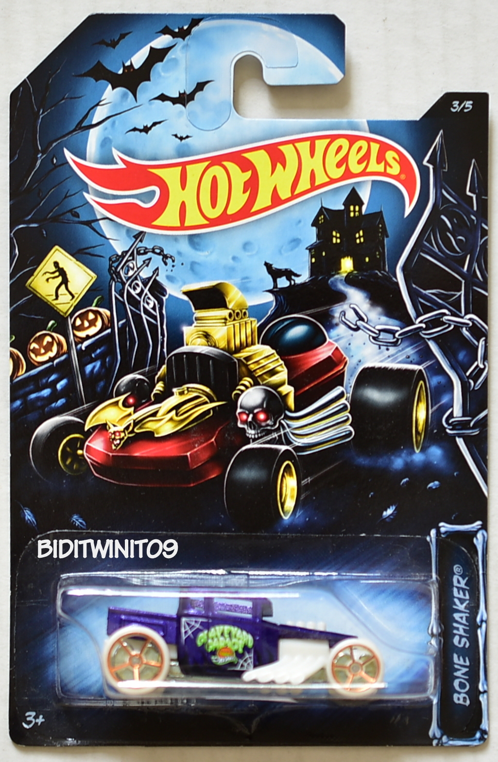 HOT WHEELS 2014 HAPPY HALLOWEEN BONE SHAKER #3/5