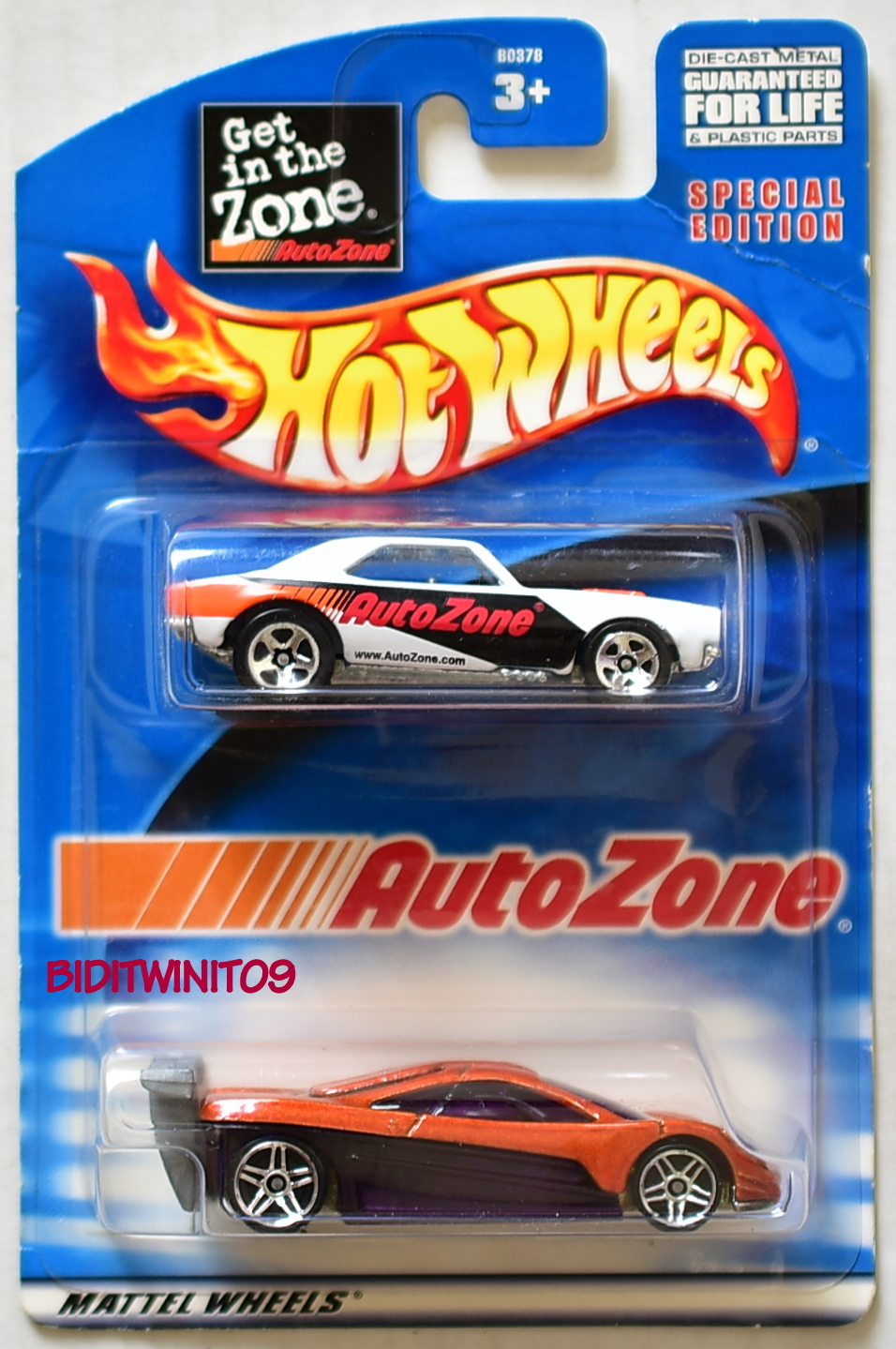 Hot Wheels Auto Zone 1967 Camaro Hw Prototype 2 Car Pack