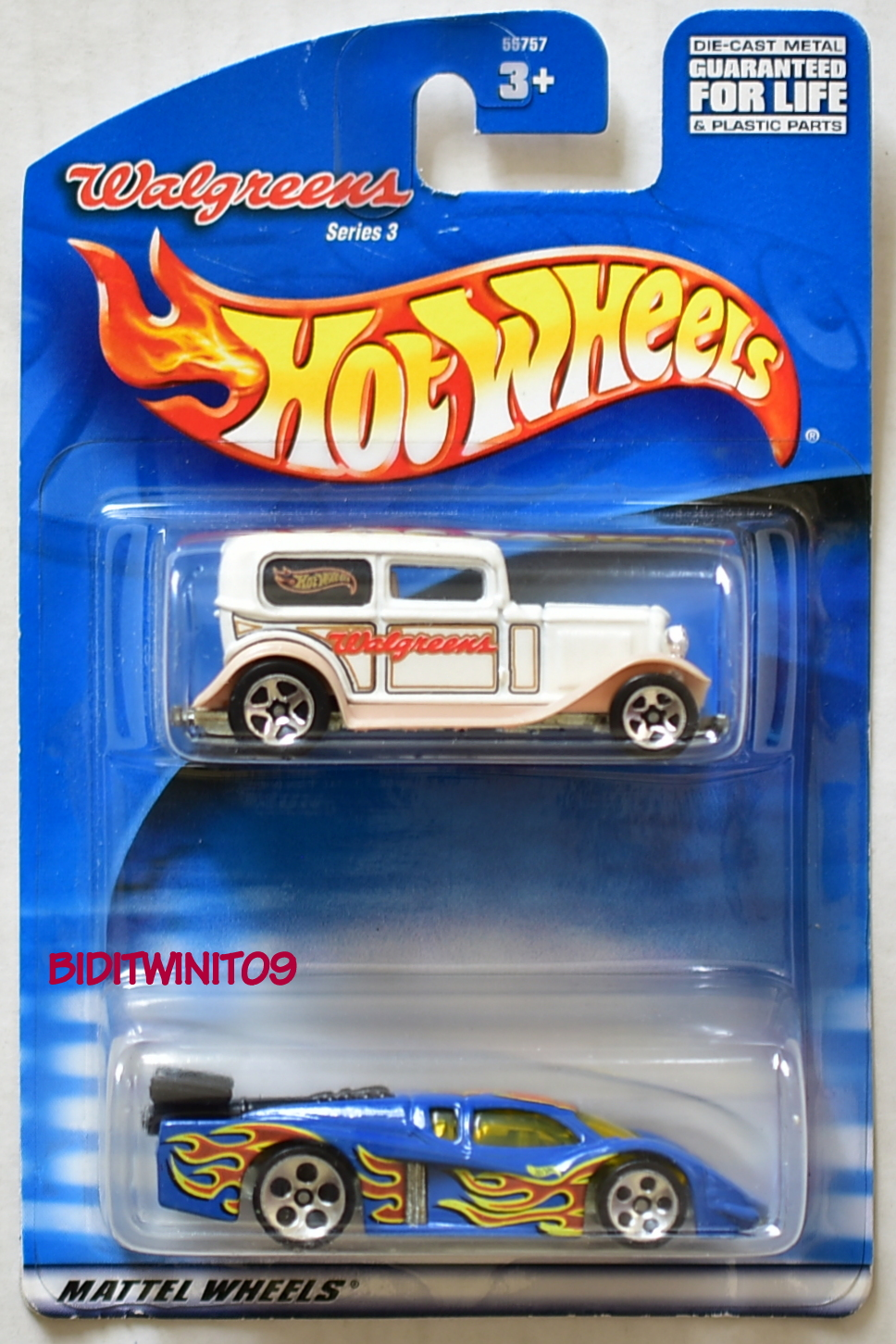 HOT WHEELS 2 CAR PACK WALGREENS FORD DELIVERY - GT RACER E+