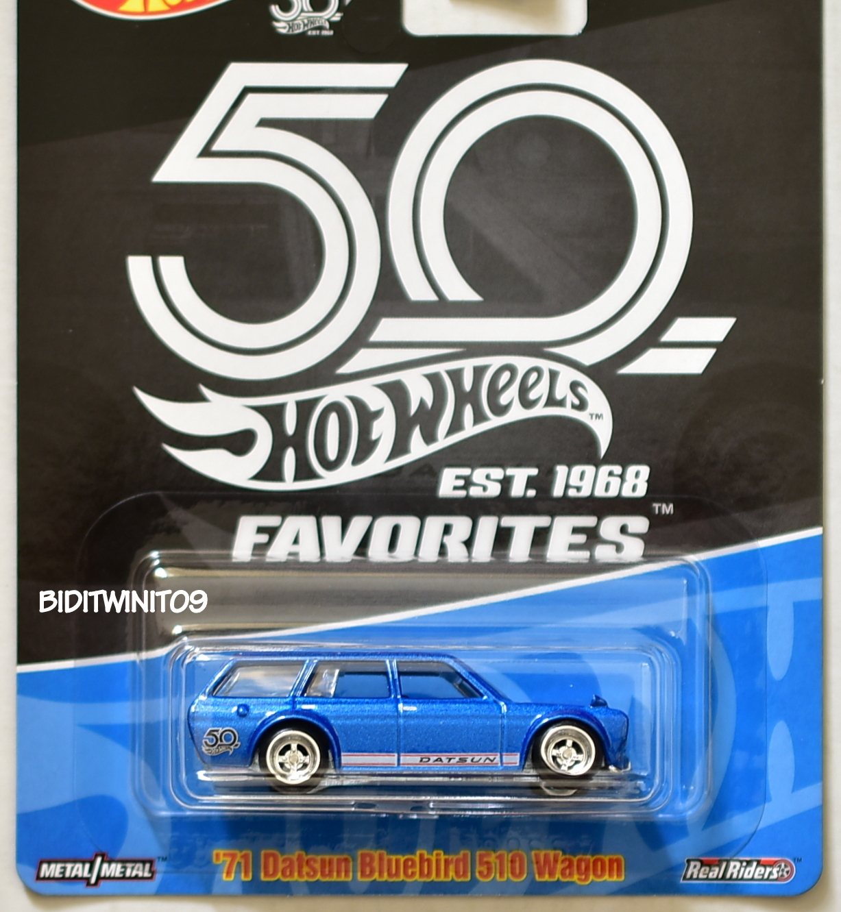 HOT WHEELS 2018 50TH ANNIVERSARY '71 DATSUN BLUEBIRD 510 WAGON