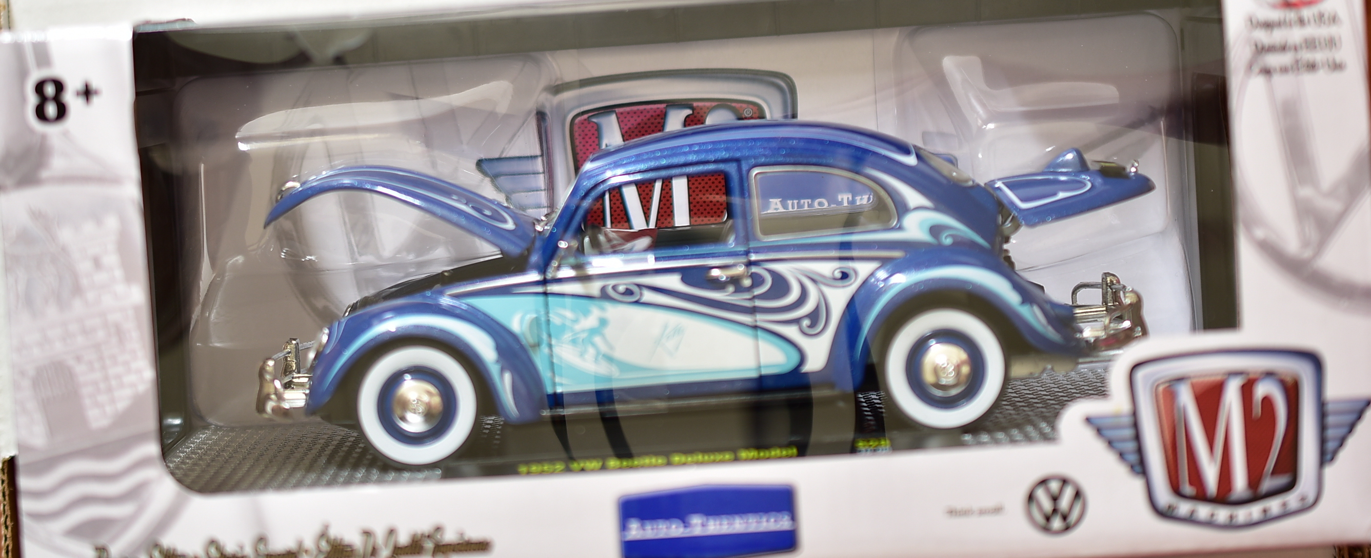 M2 MACHINES AUTO - THENTICS 1952 VW BEETLE DELUXE MODEL S28 1:24 WALMART