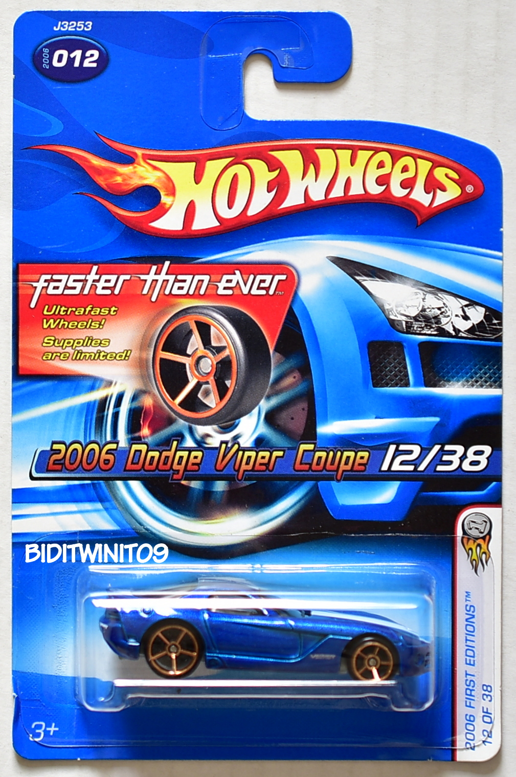 HOT WHEELS 2006 FIRST EDITIONS DODGE VIPER COUPE #12/38 BLUE