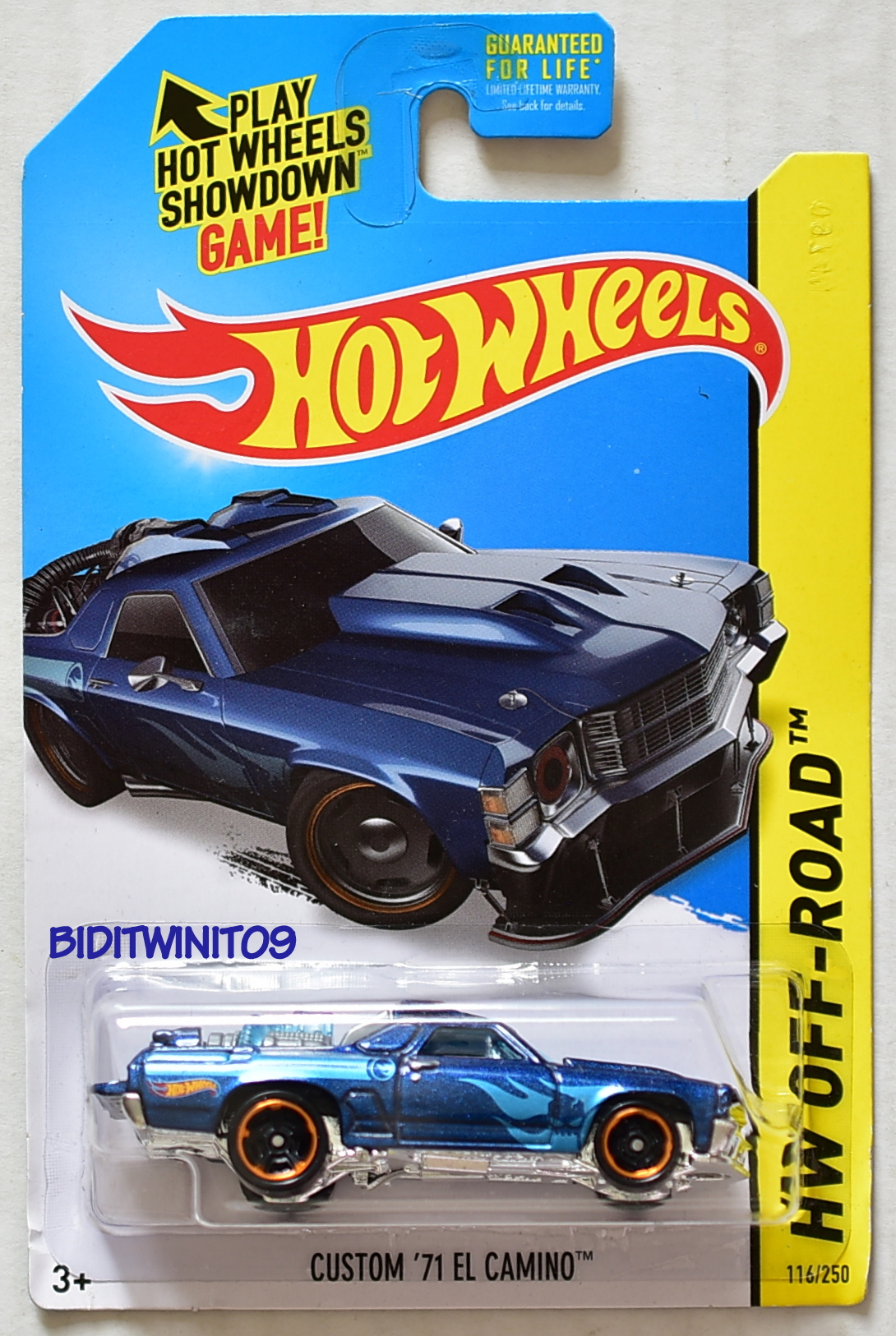 HOT WHEELS 2014 TREASURE HUNT OFF ROAD - HW TEST FACILITY CUSTOM '71 EL CAMINO
