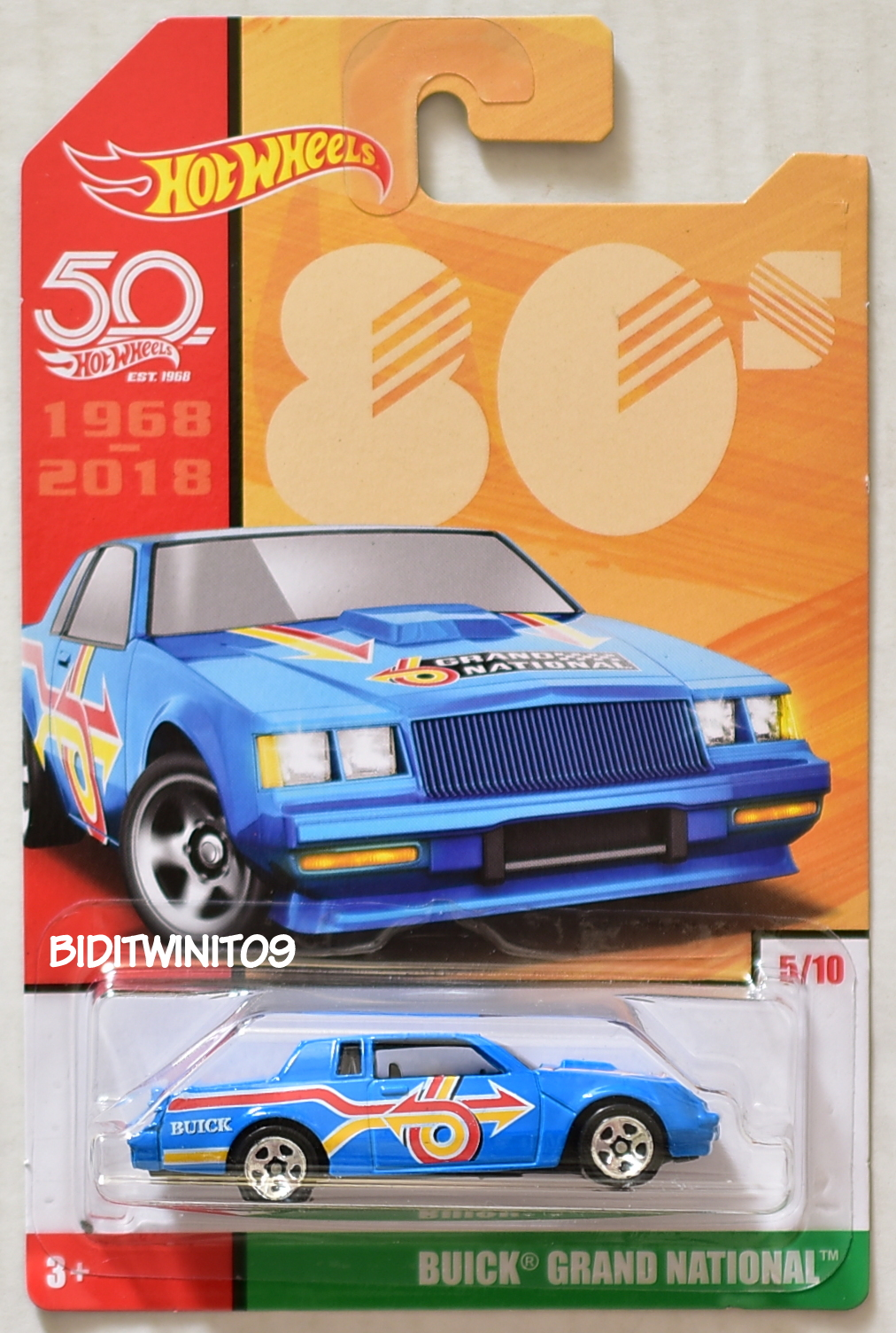 HOT WHEELS 2018 THROWBACK DECADES 50TH ANNIVERSARY BUICK GRAND NATIONAL BLUE