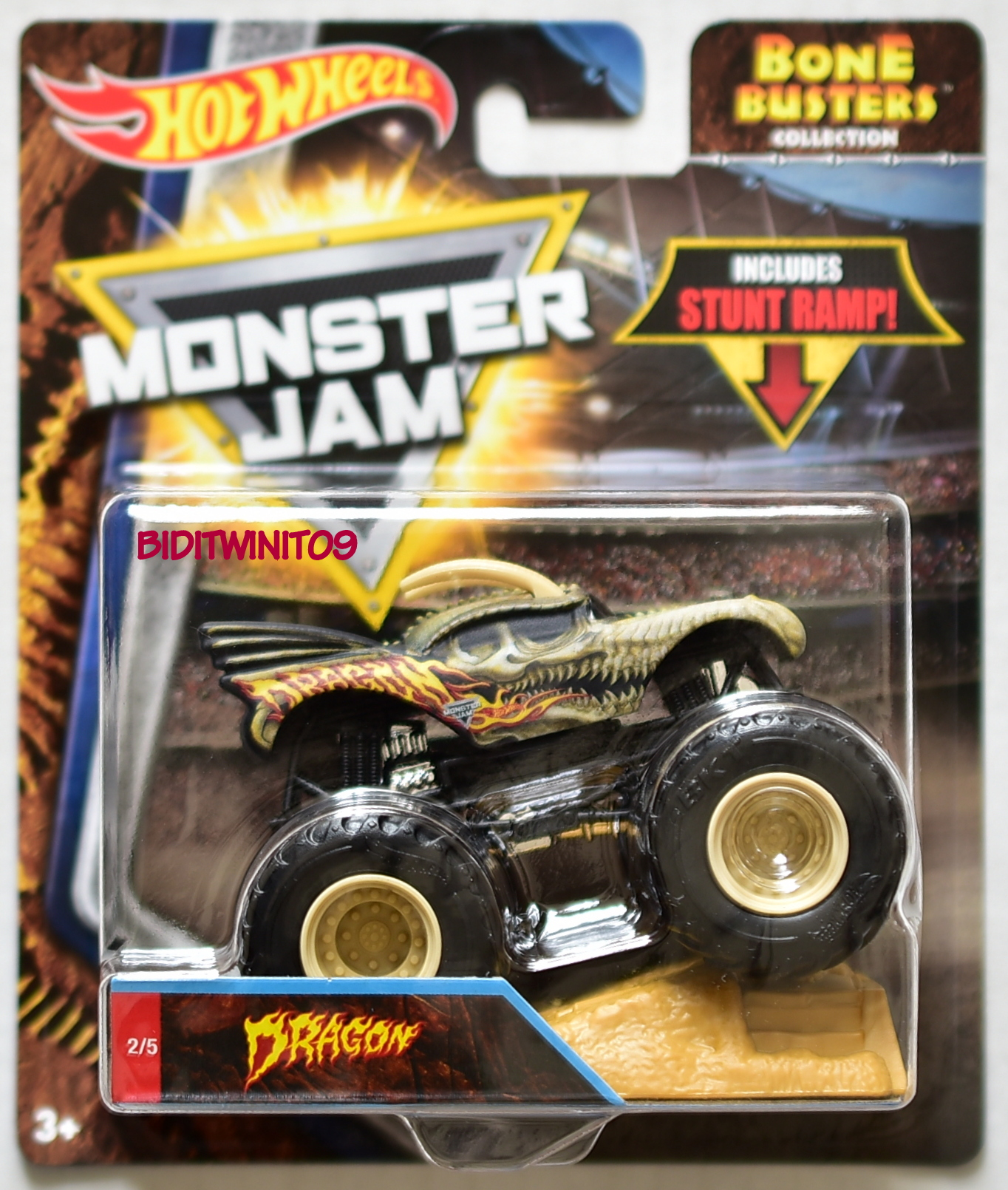 HOT WHEELS 2018 MONSTER JAM BONE BUSTERS DRAGON