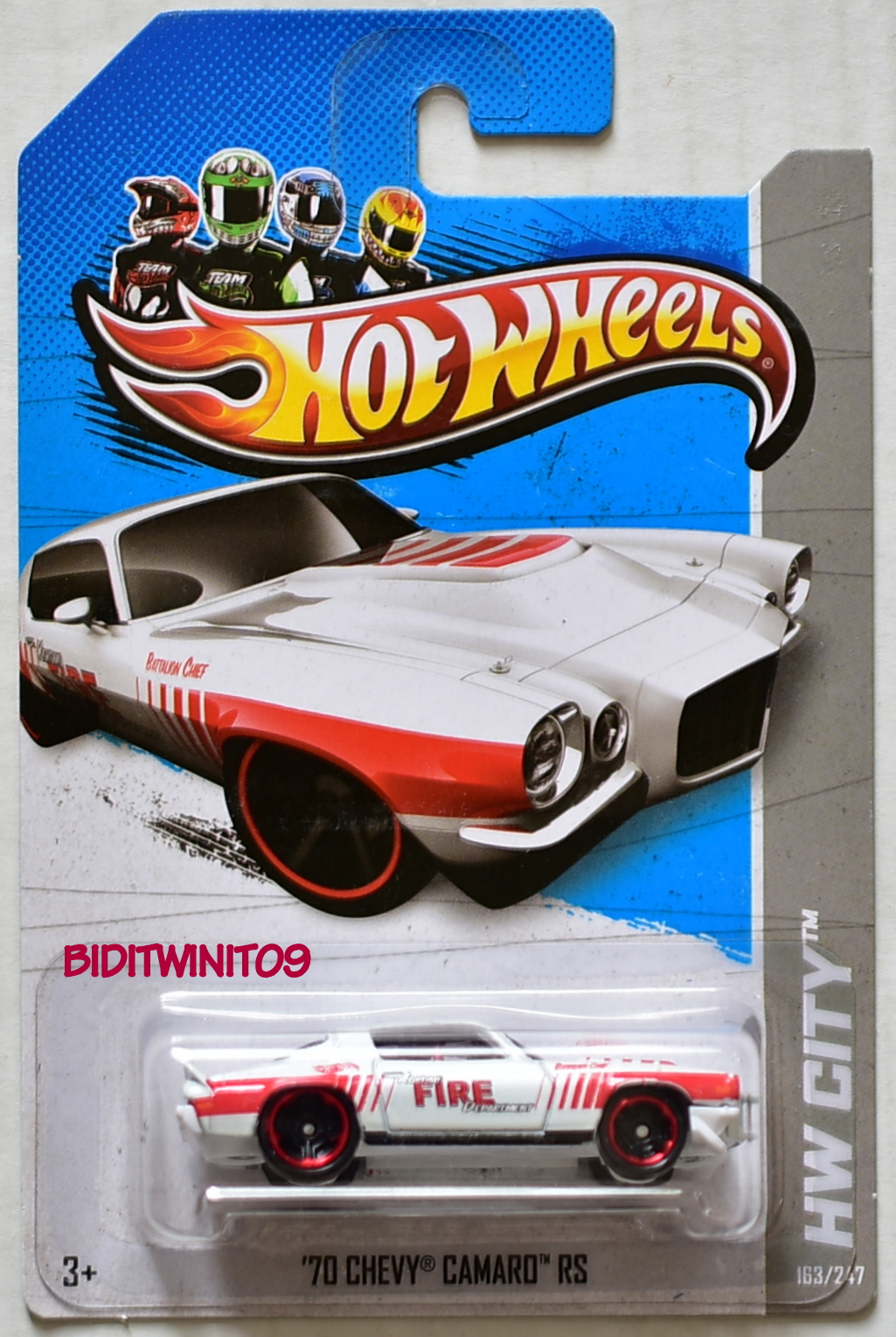 HOT WHEELS 2012 HW CITY '70 CHEVY CAMARO RS FIRE