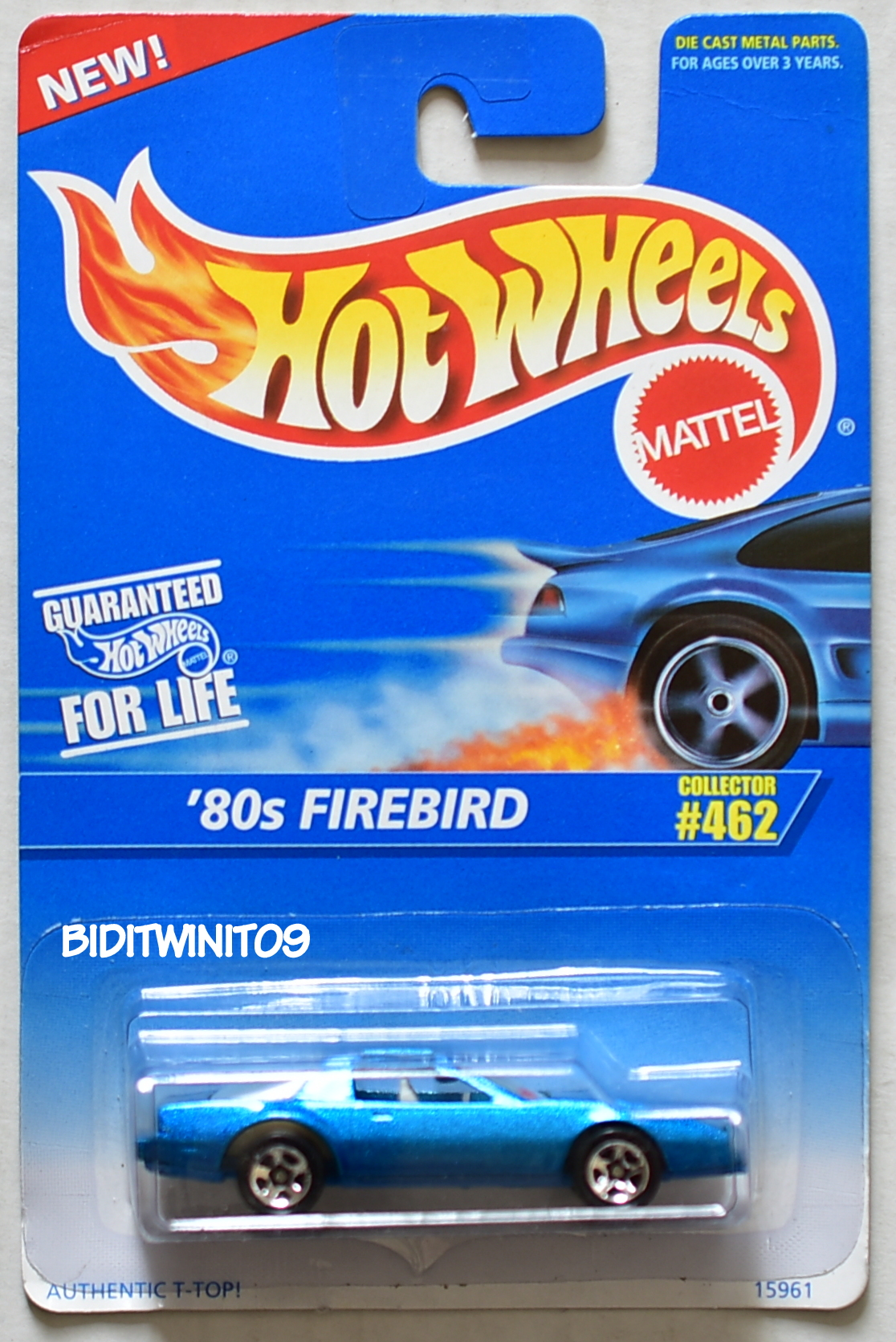 HOT WHEELS 1995 '80S FIREBIRD #462 W/ 5 SP WHEELS E+