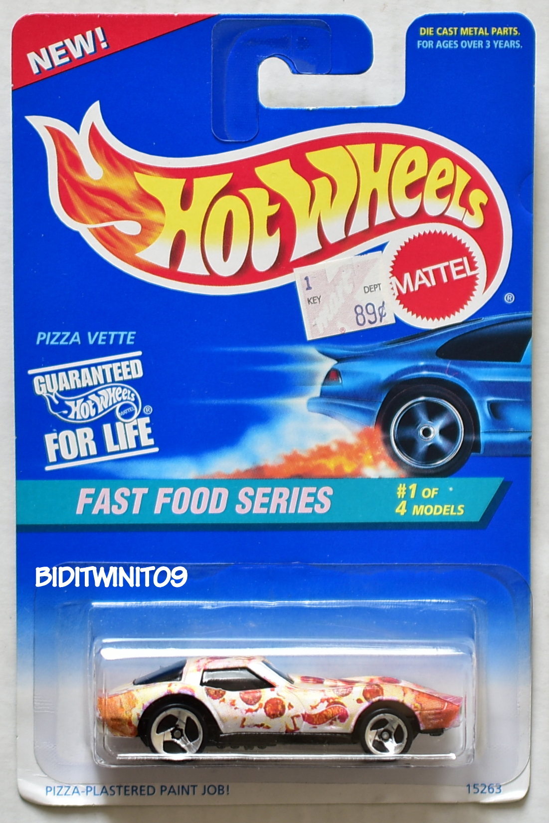 HOT WHEELS 1995 FAST FOOD SERIES PIZZA VETTE #1/4