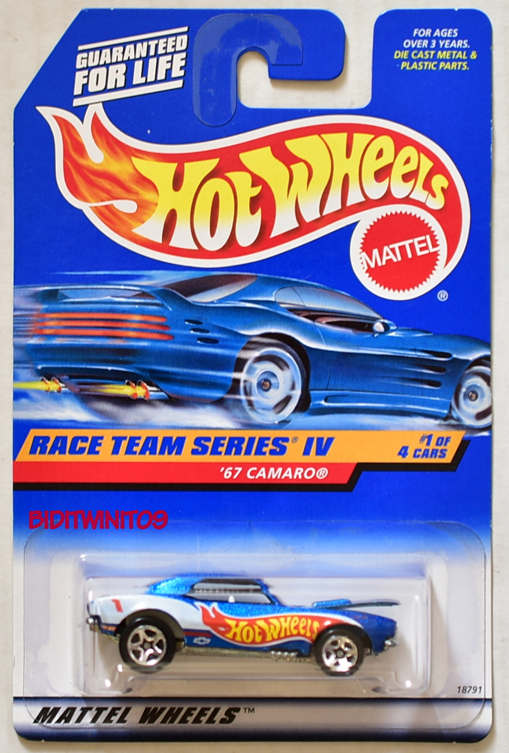 HOT WHEELS 1998 RACE TEAM SERIES IV '67 CAMARO MIB