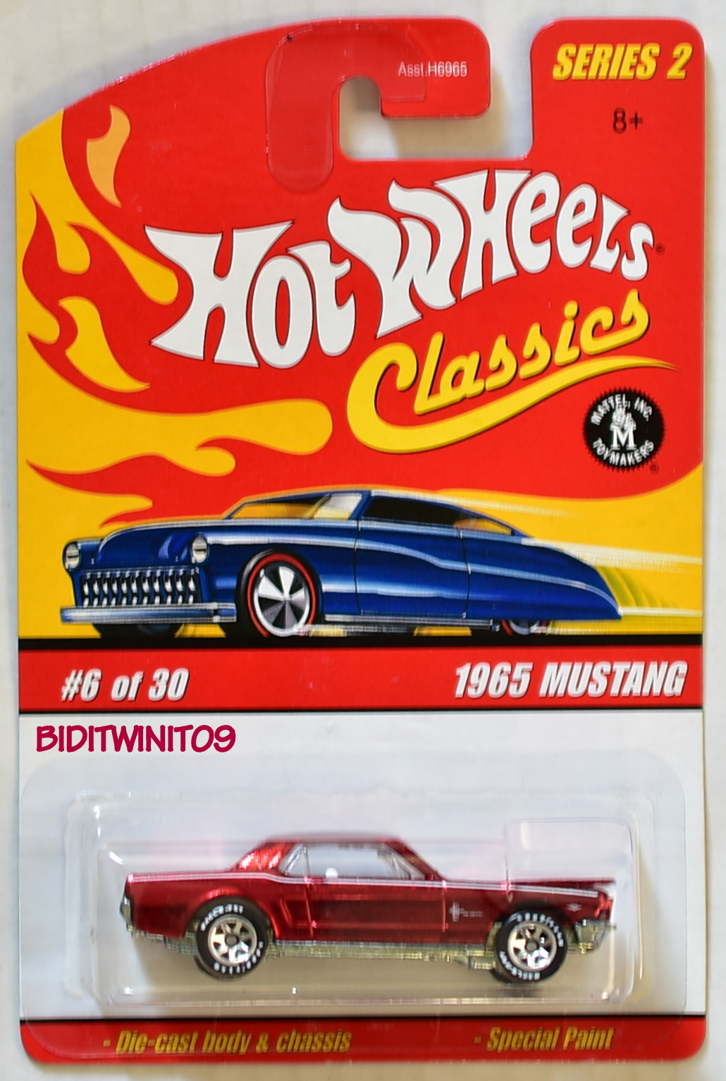 HOT WHEELS CLASSICS SERIES 2 1965 MUSTANG #6/30 RED E+