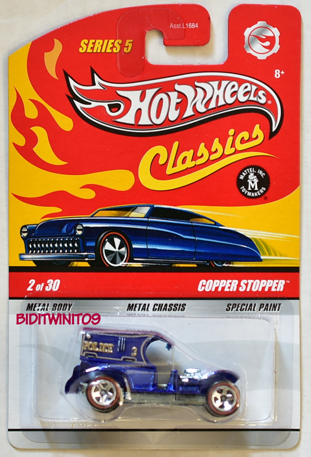 HOT WHEELS CLASSICS SERIES 5 COPPER STOPPER #2/30 METALLIC BLUE E+