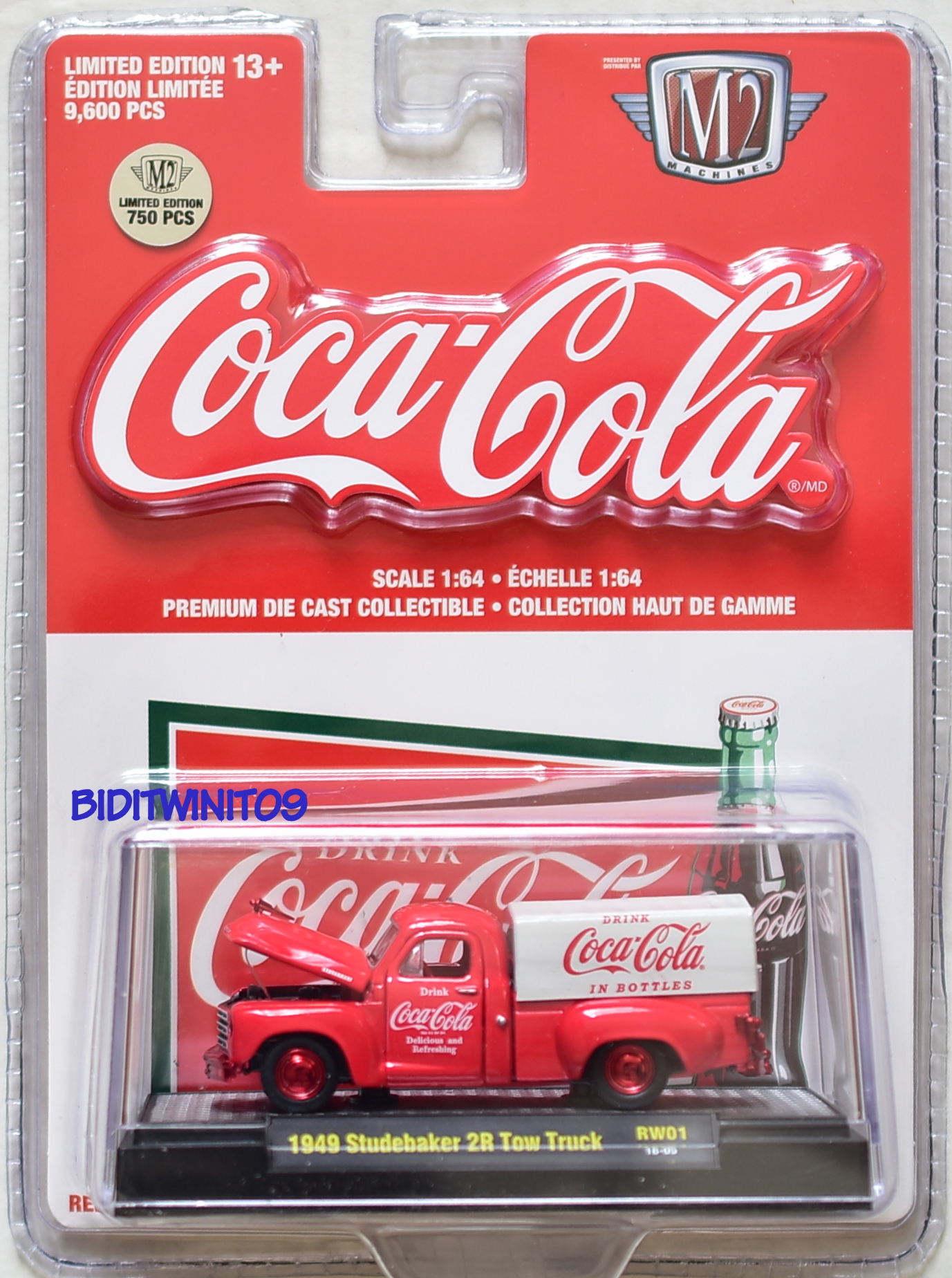 M2 MACHINES COCA COLA COKE HOBBY 1949 STUDEBAKER 2R TOW TRUCK RW01 CHASE