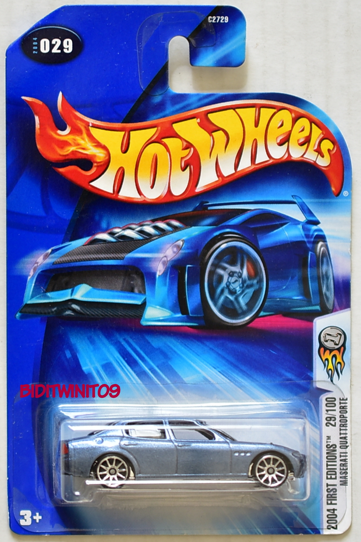 HOT WHEELS 2004 FIRST EDITIONS MASERATI QUATTROPORTE #029 LIGHT BLUE E+