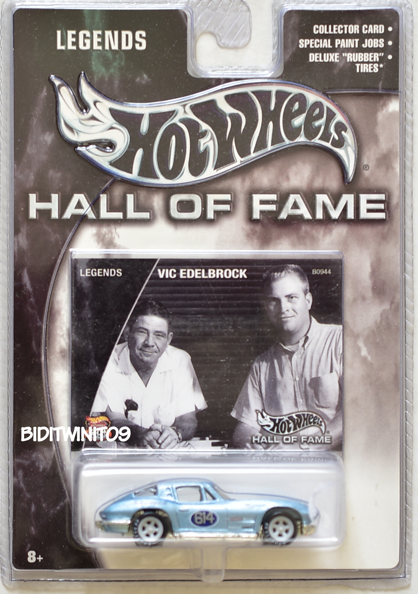 HOT WHEELS HALL OF FAME LEGENDS VIC EDELBROCK '63 CORVETTE STINGRAY E+