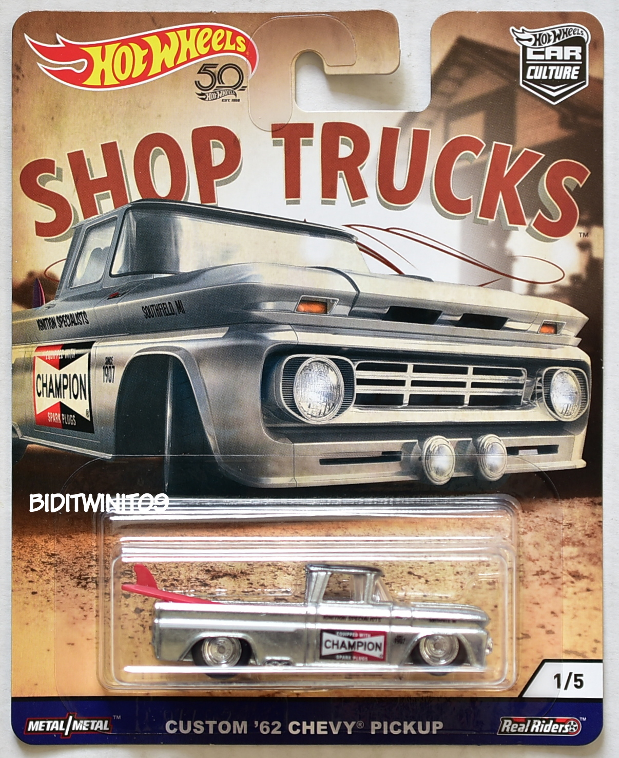 HOT WHEELS 2018 CAR CULTURE SHOP TRUCKS CUSTOM '62 CHEVY PICKUP