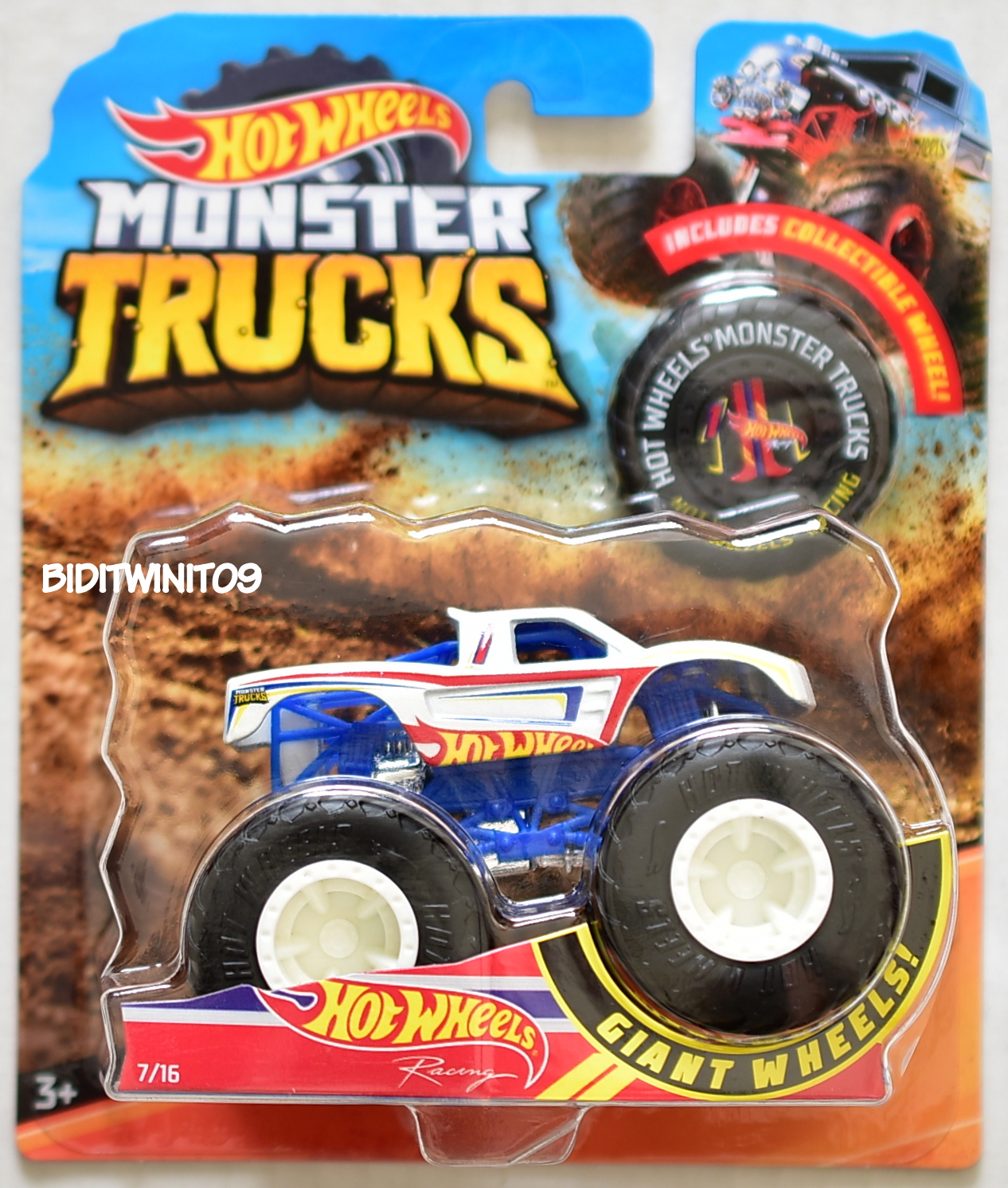 2018 MONSTER TRUCKS GIANT WHEELS RACING #7/16