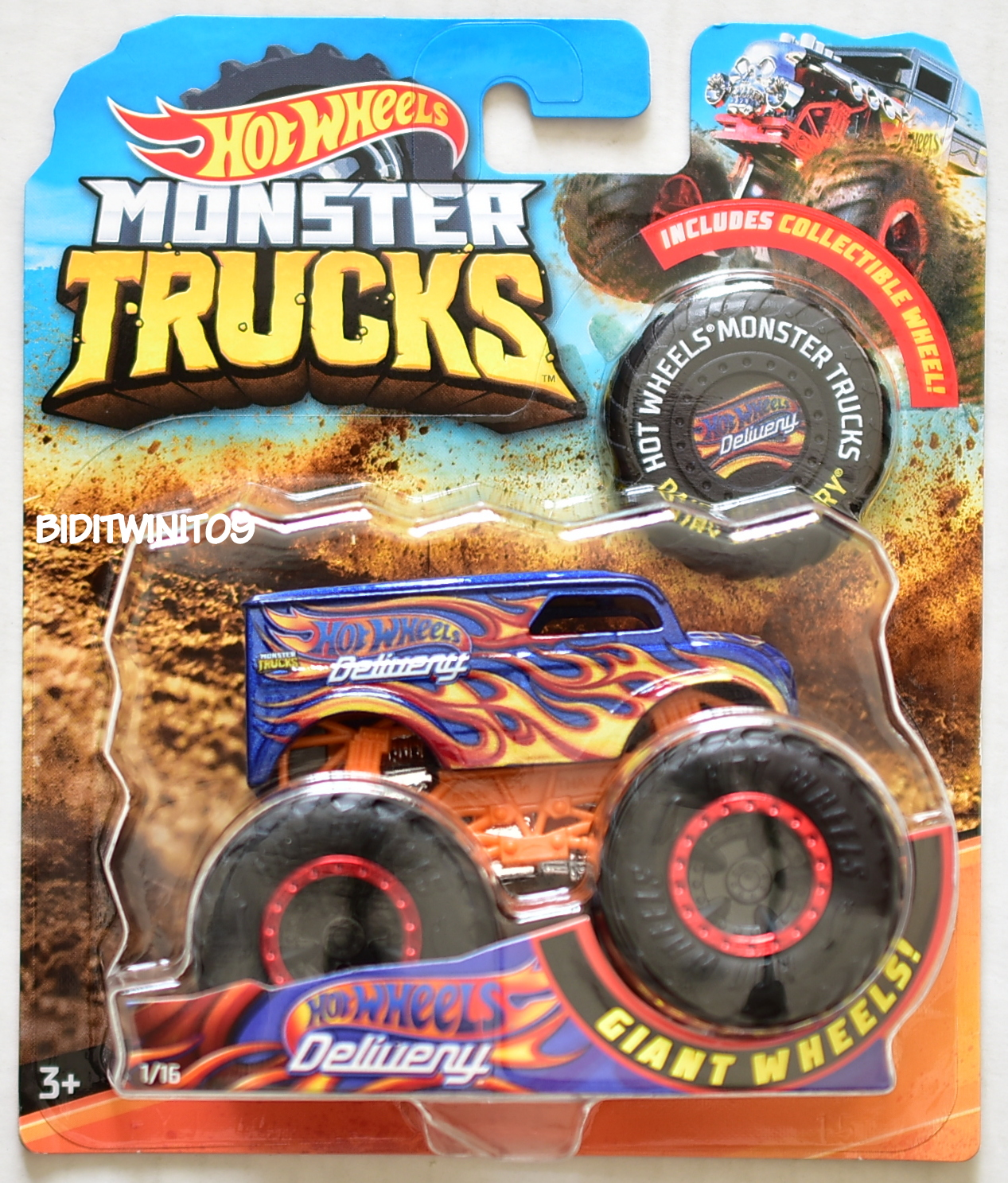 HOT WHEELS 2018 MONSTER TRUCKS GIANT WHEELS DELIVERY #1/16