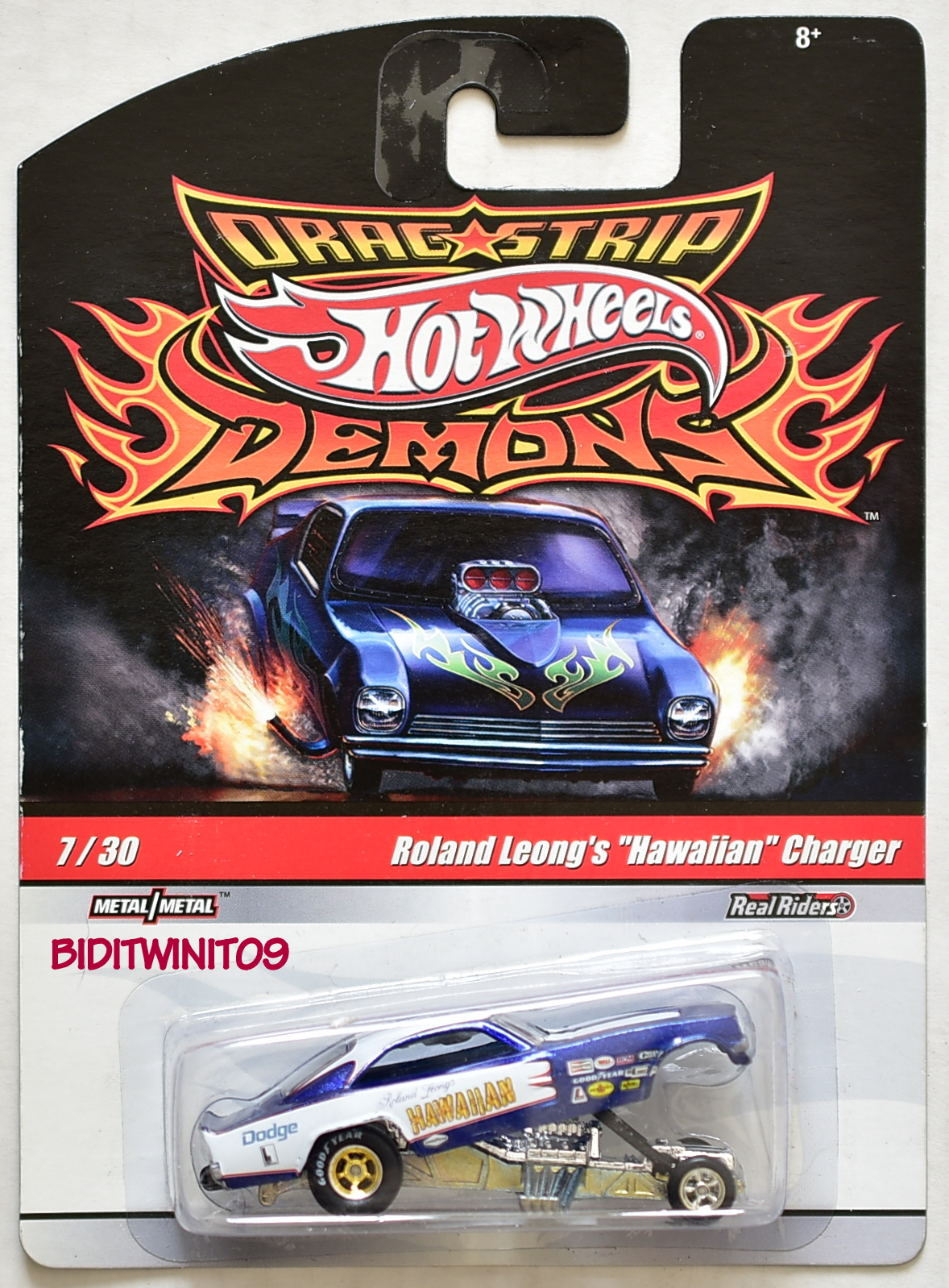 HOT WHEELS DRAG STRIP DEMONS ROLAND LEONG'S HAWAIIAN CHARGER FUNNY CAR