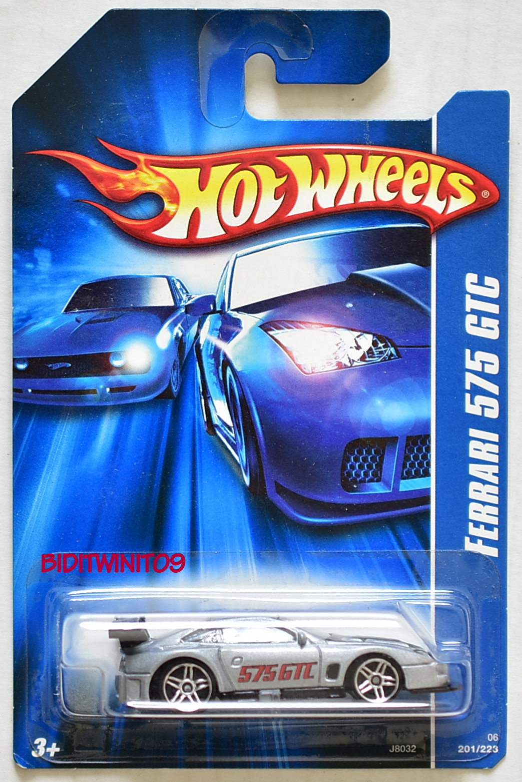 HOT WHEELS 2006 FERRARI 575 GTC SILVER