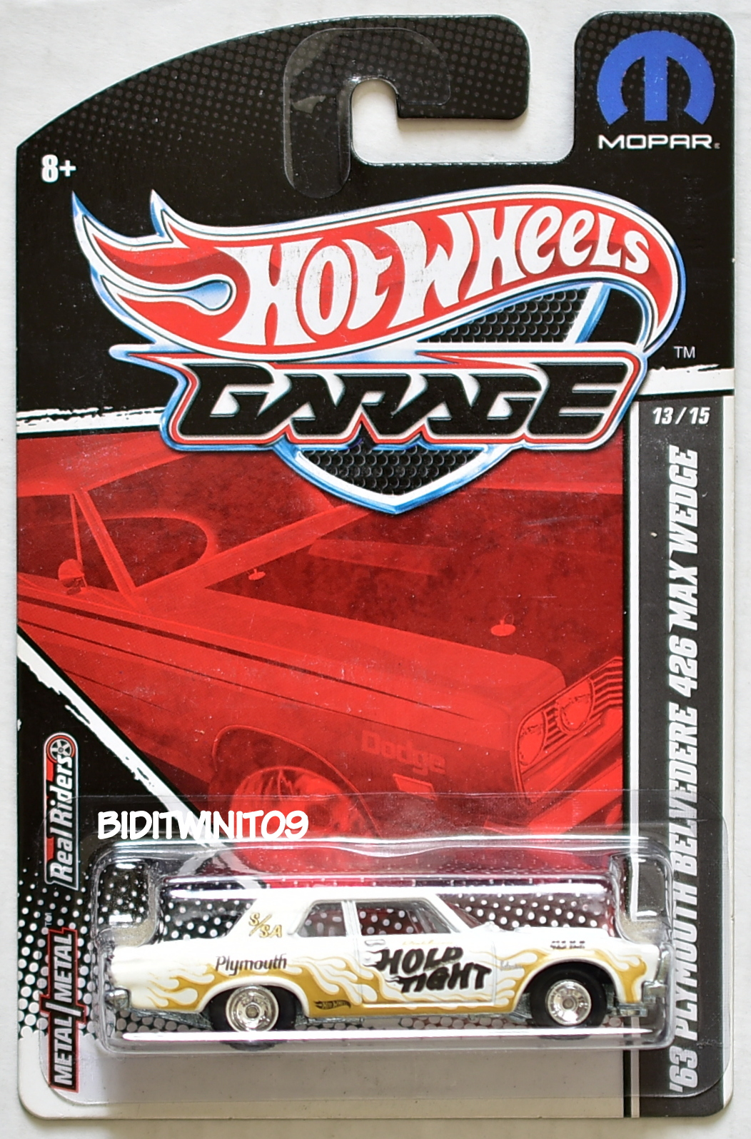 HOT WHEELS GARAGE '63 PLYMOUTH BELVEDERE 426 MAX WEDGE E+