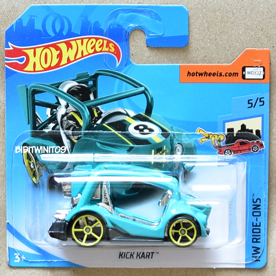 ons kart HOT WHEELS 2018 HW RIDE ONS KICK KART #5/5 SHORT CARD [0012070  ons kart