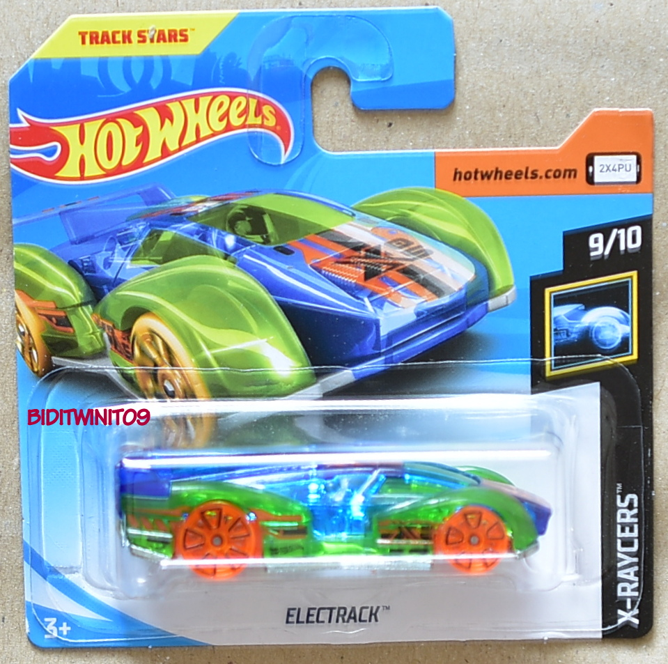 HOT WHEELS 2018 X-RAYCERS ELECTRACK SHORT CARD