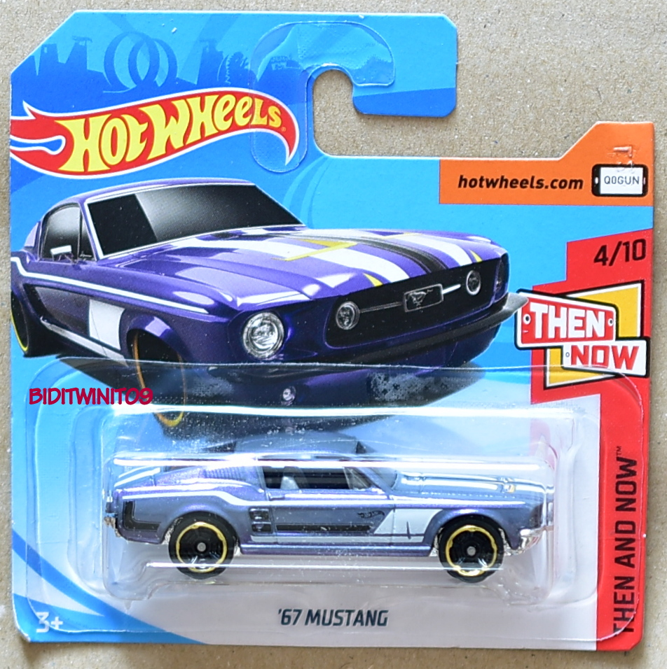 HOT WHEELS 2018 THEN AND NOW '67 MUSTANG #4/10 SHORT CARD