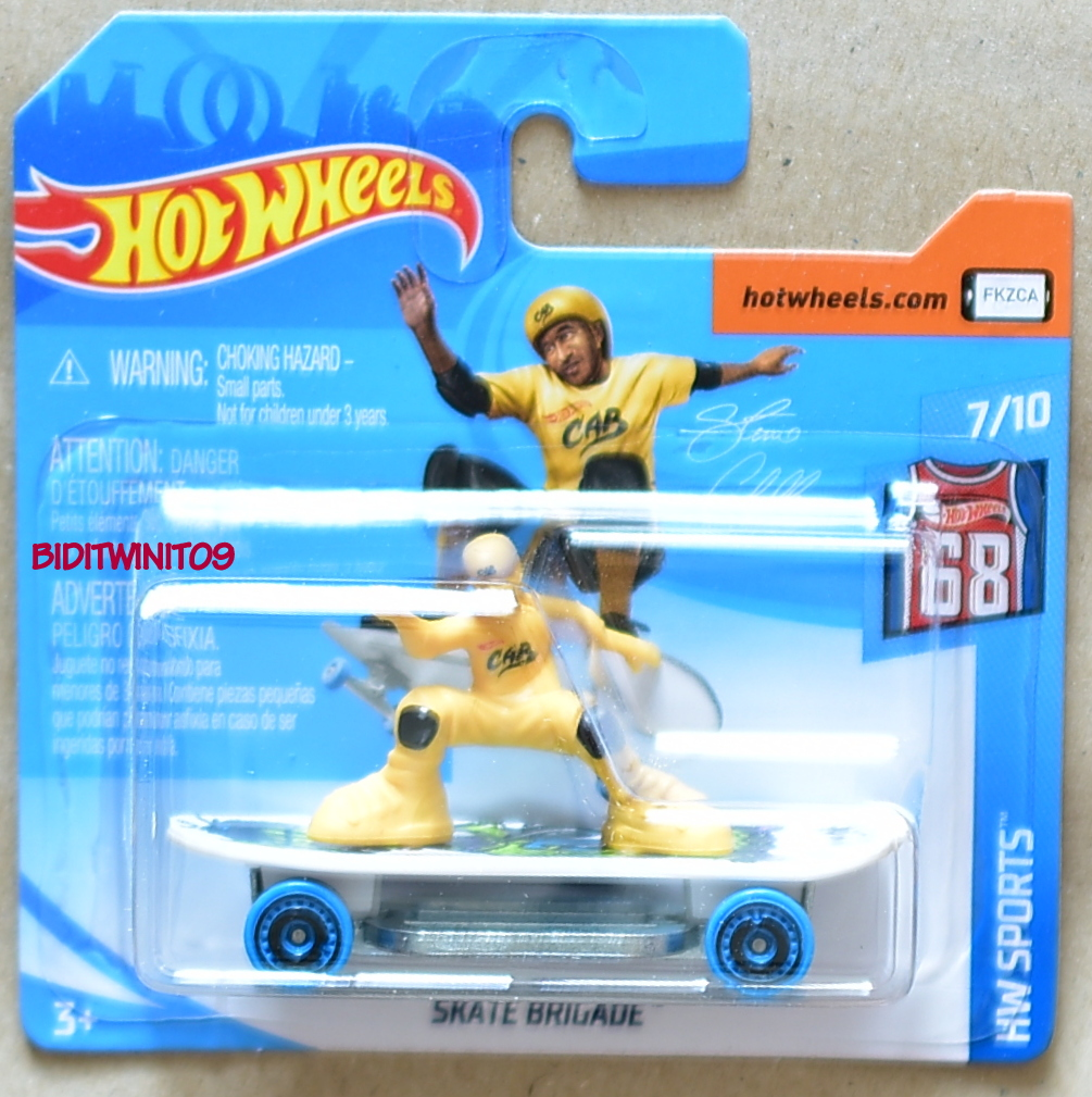 HOT WHEELS 2018 HW SPORTS SKATE BRIGADE SHORT CARD