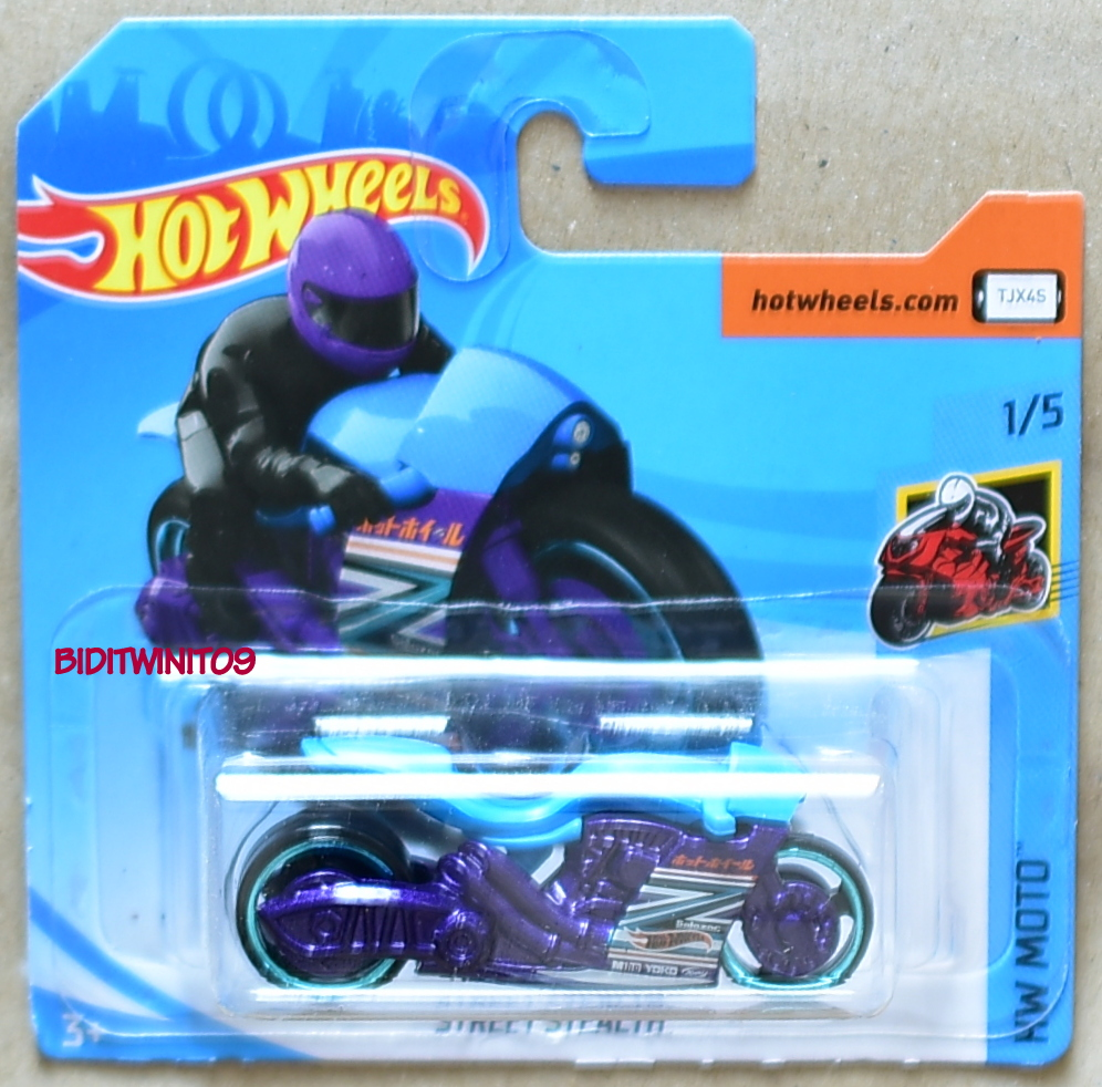 Hot Wheels 2018 Hw Moto Street Stealth 1 5 Short Card 0012082 1 65 Biditwinit09 Com Classic Colections